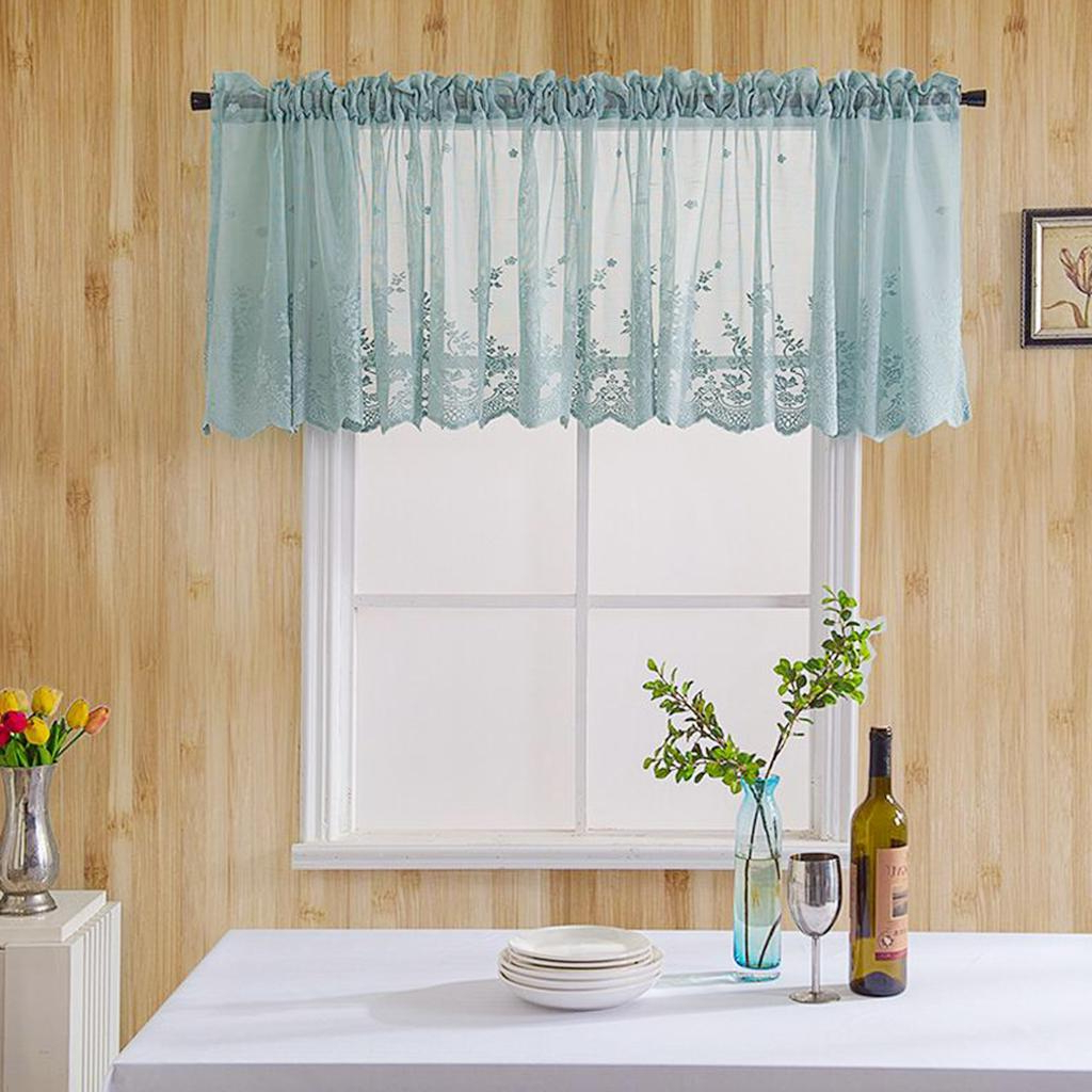 Coffee Drinks Embroidered Window Valances And Tiers Throughout Well Known Loviver Embroidered Elegant Voile Sheer Kitchen Cafe Privacy Window Tiers  Curtains (View 7 of 20)