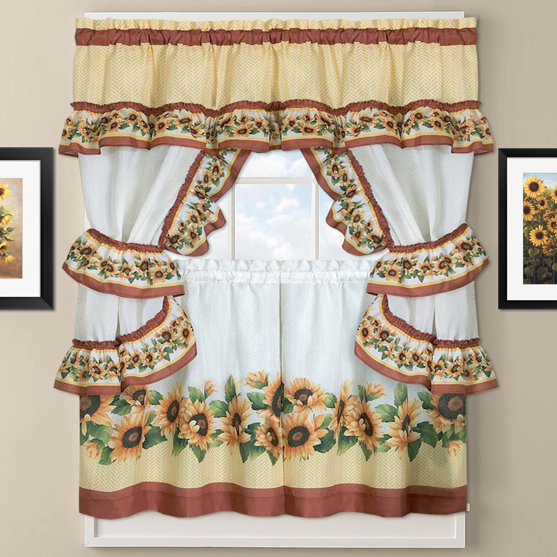 Cottage Kitchen Curtains – Skushi Regarding Most Recent Chateau Wines Cottage Kitchen Curtain Tier And Valance Sets (View 9 of 20)