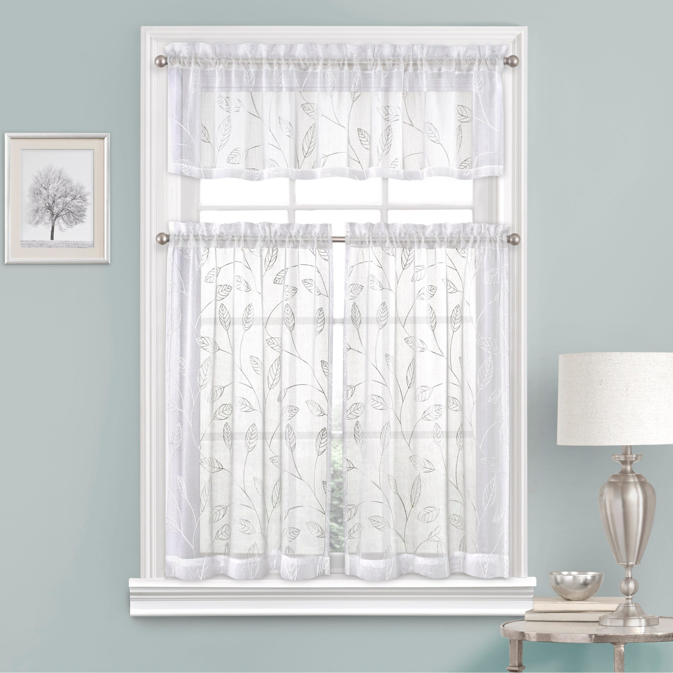 Cotton Classic Toast Window Pane Pattern And Crotchet Trim Tiers In Recent Vue Window Solutions Prairie Tier Pair (View 18 of 20)