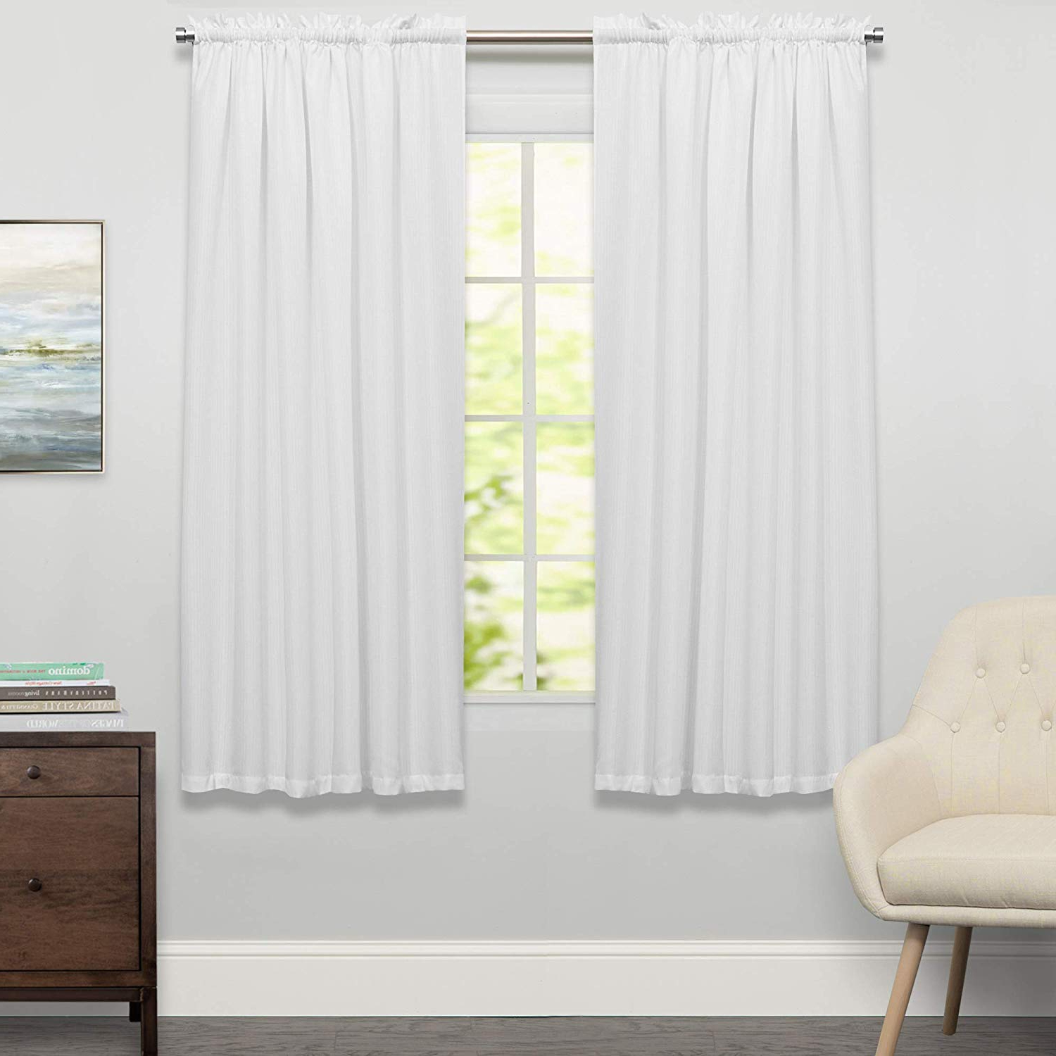 Cotton Classic Toast Window Pane Pattern And Crotchet Trim Tiers Intended For 2020 Sweet Home Collection Cotton Kitchen Window Curtains Pair, Valance, Adirondack Toast (View 6 of 20)
