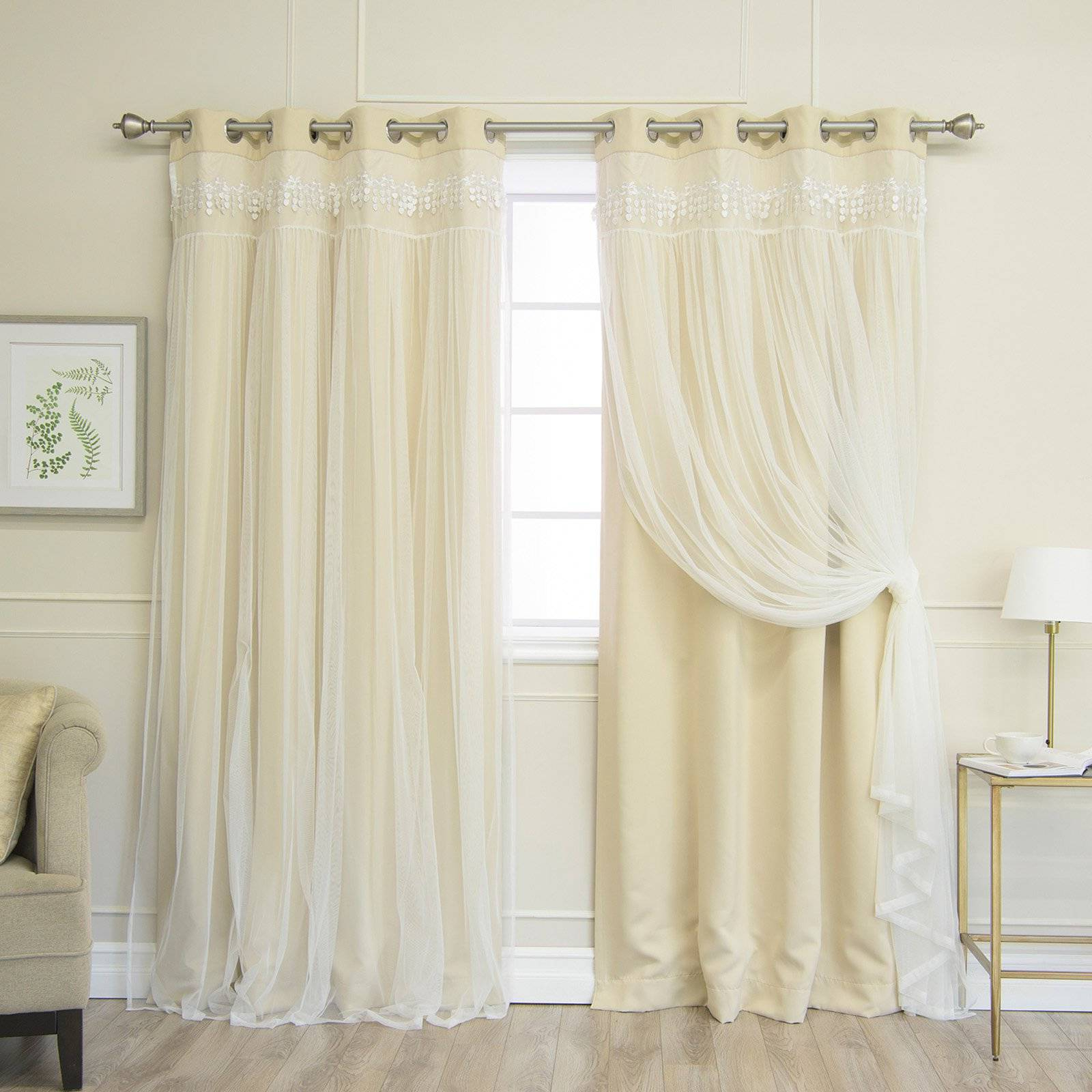 Country Style Curtain Parts With White Daisy Lace Accent Regarding Well Known Pretty Country Lace Curtains Swags For Living Room Catalog (View 13 of 20)