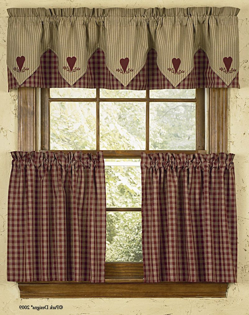 Country Style Curtains Pertaining To Favorite Primitive Kitchen Curtains (View 7 of 20)