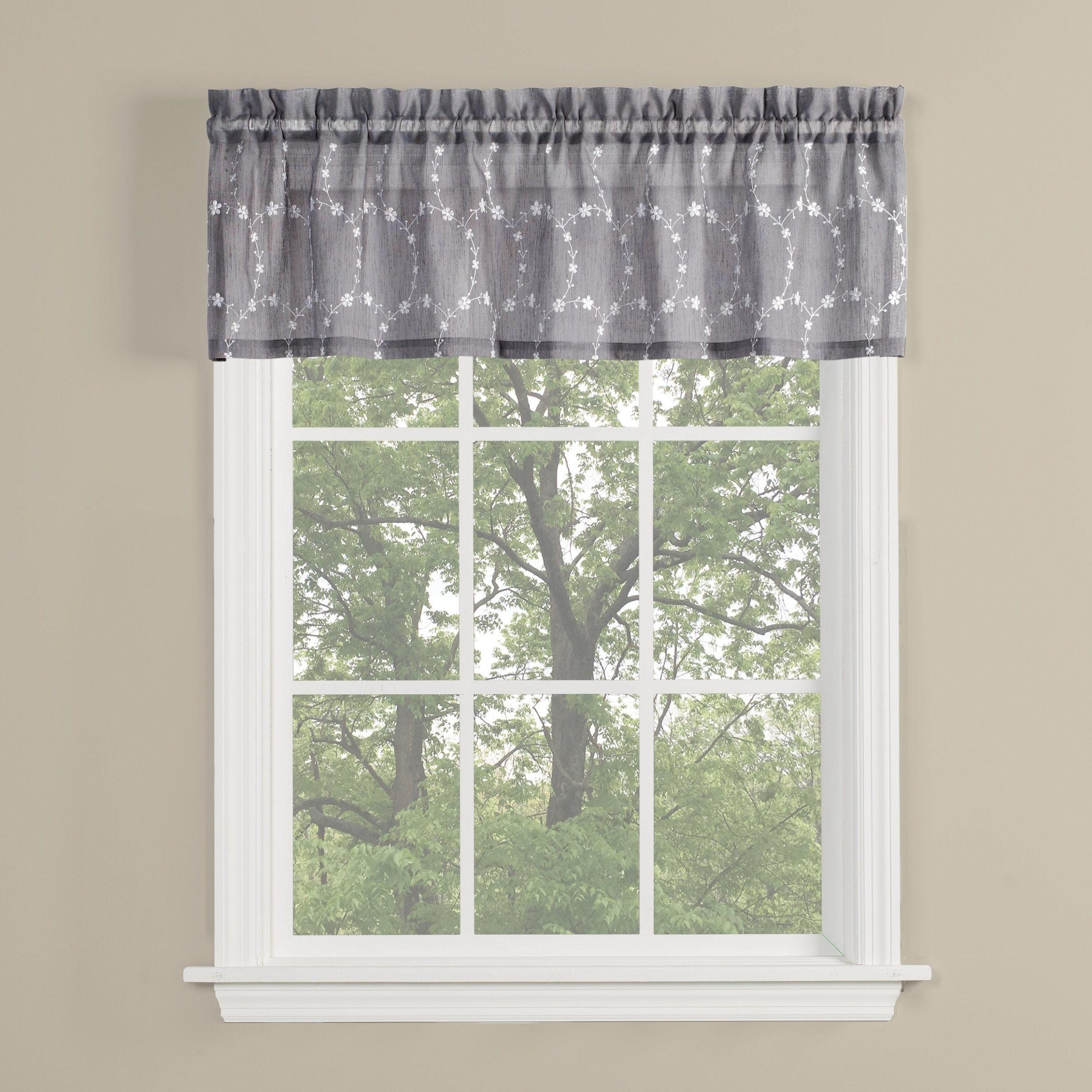Cumberland Tier Pairs In Dove Gray Regarding Well Known Skl Home Briarwood 13 Inch Valance In Dove Gray (View 11 of 20)