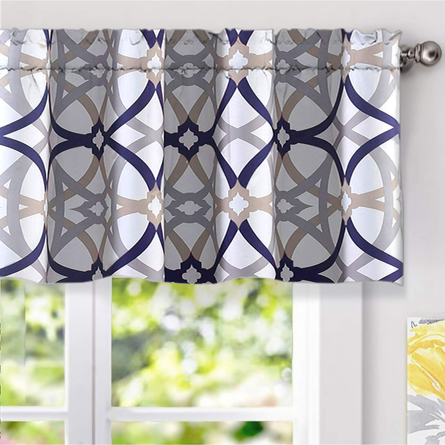 Current Carson Carrington Jarvenpaa Geo Trellis Pattern Window Valance Inside Trellis Pattern Window Valances (View 3 of 20)