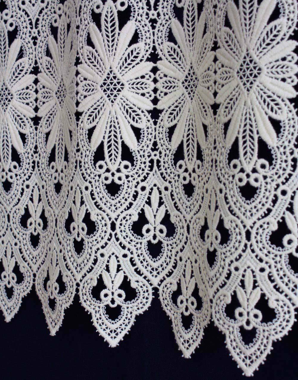 Current Elegant White Priscilla Lace Kitchen Curtain Pieces Inside Lace Tier Curtains – V9oj (View 19 of 20)