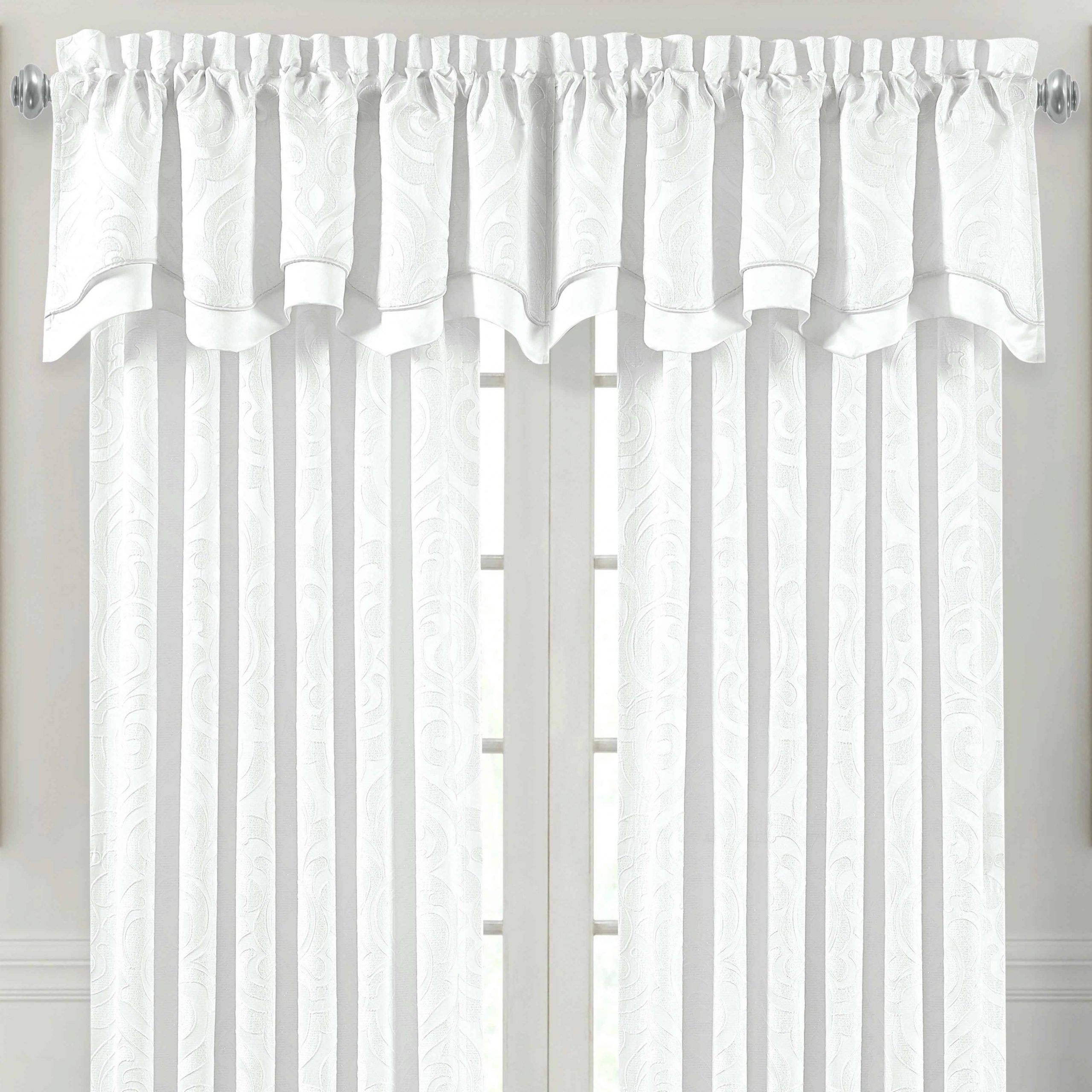Current Modern Subtle Texture Solid White Kitchen Curtain Parts With Grommets Tier And Valance Options Throughout Excellent Kitchen Valance Red Curtains Make Burlap For (View 14 of 20)