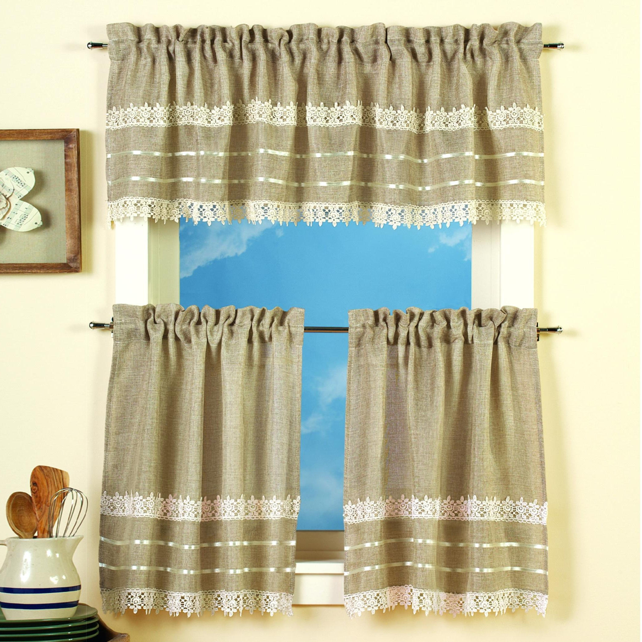 Curtain And Valance Set With 2021 Scroll Leaf 3 Piece Curtain Tier And Valance Sets (View 3 of 20)