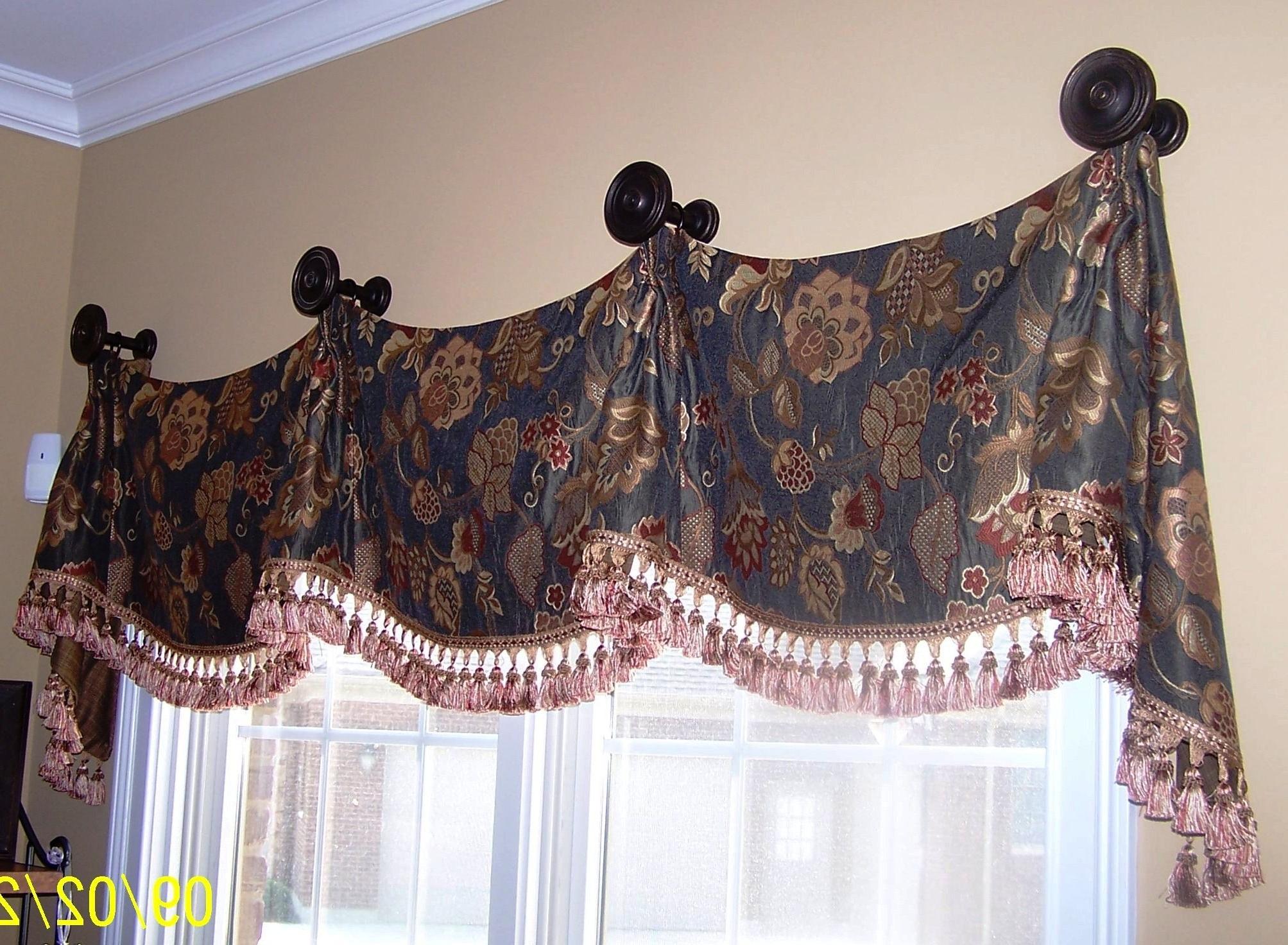 Custom Window Treatments With Medallion Window Curtain Valances (View 9 of 20)