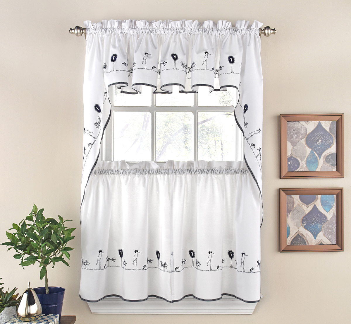 Designer Kitchen Curtains – Thecurtainshop Pertaining To Fashionable Classic Kitchen Curtain Sets (View 14 of 20)