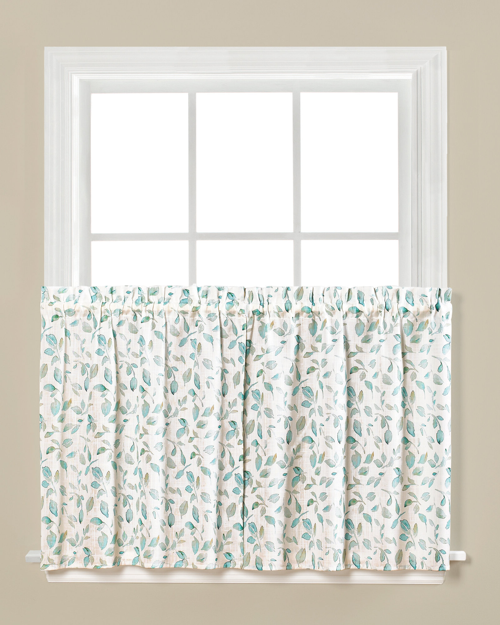Details About August Grove Paluch Cafe Curtain Set Of 2 With Trendy Spring Daisy Tiered Curtain 3 Piece Sets (View 2 of 20)