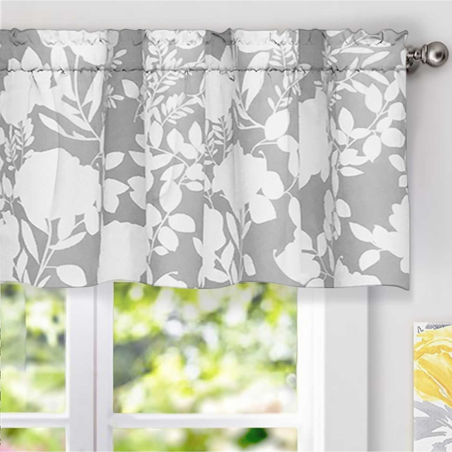 Details About Driftaway Floral Delight Botanic Pattern Window Valance – 52 Within Current Floral Pattern Window Valances (View 6 of 20)