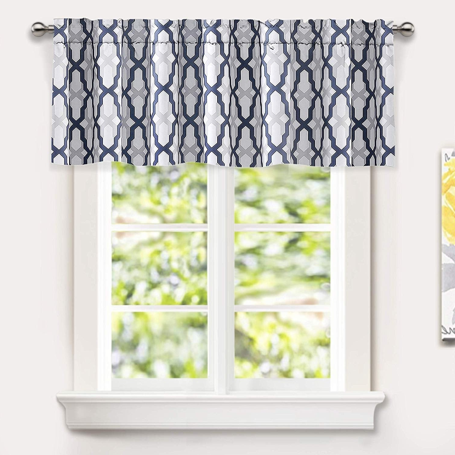 Details About Driftaway Mason Geometric Trellis Pattern Window Curtain Intended For Best And Newest Trellis Pattern Window Valances (View 6 of 20)