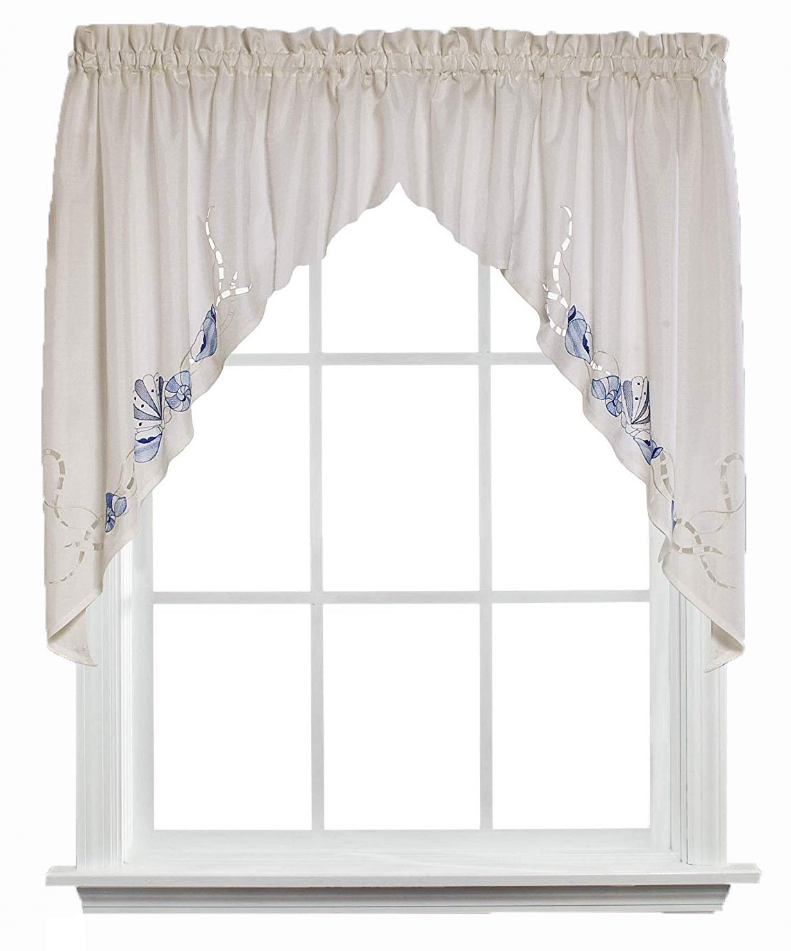 "Details About Saturday Knight Seabreeze Swag Curtain Valance 57"" X 36"" With Most Popular Seabreeze 36 Inch Tier Pairs In Ocean (View 12 of 20)"