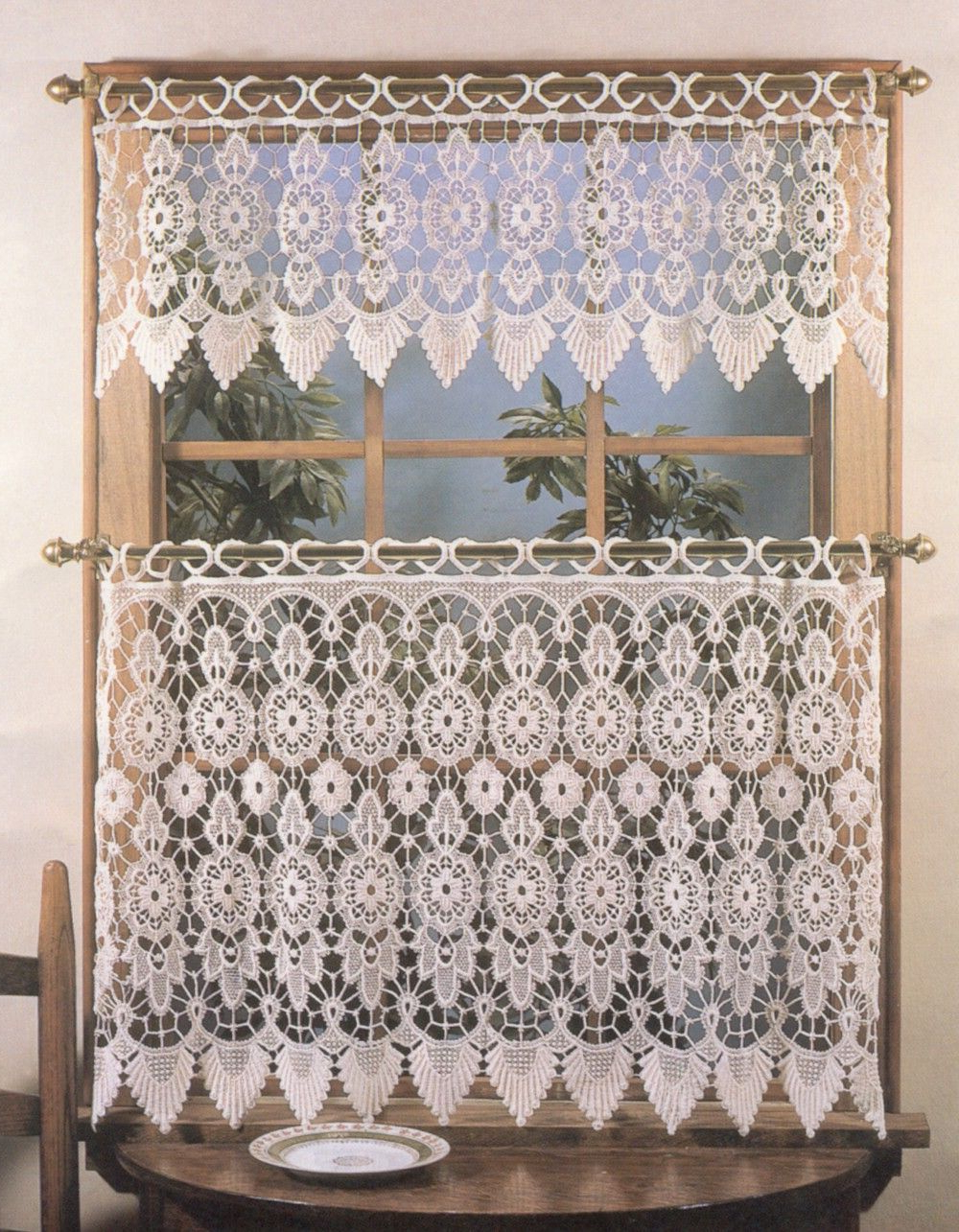 Diy Intended For French Vanilla Country Style Curtain Parts With White Daisy Lace Accent (View 5 of 20)