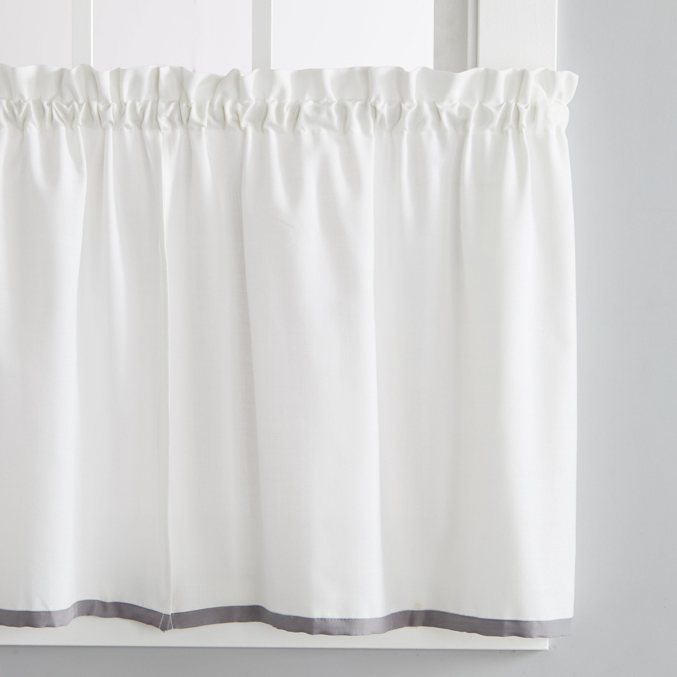 Dove Gray Curtain Tier Pairs For Most Recently Released Skl Home Manor 24 Inch Tier Pair In Dove Gray (View 2 of 20)