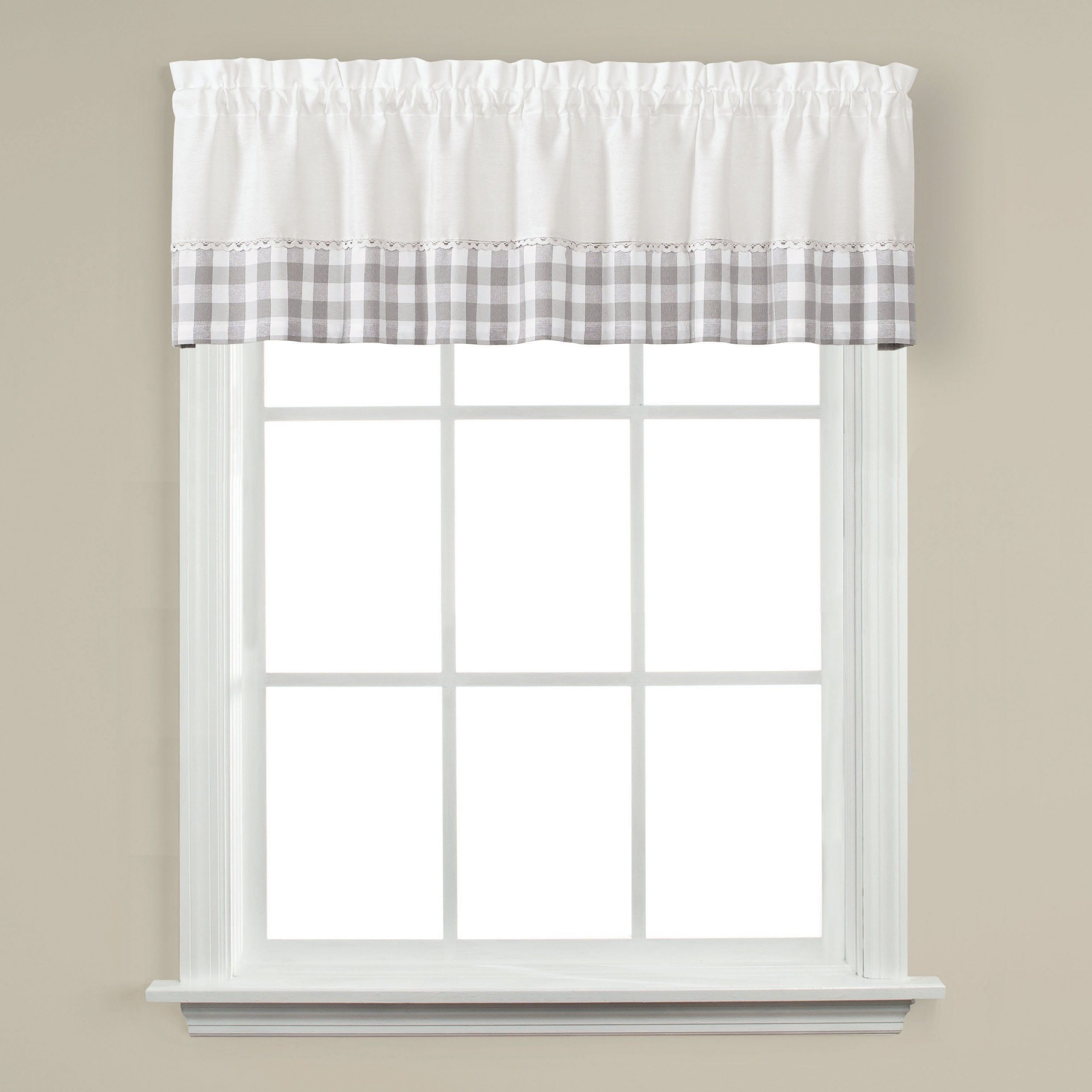 Dove Gray Curtain Tier Pairs For Well Known Skl Home Cumberland 13 Inch Valance In Dove Gray, Grey (View 3 of 20)
