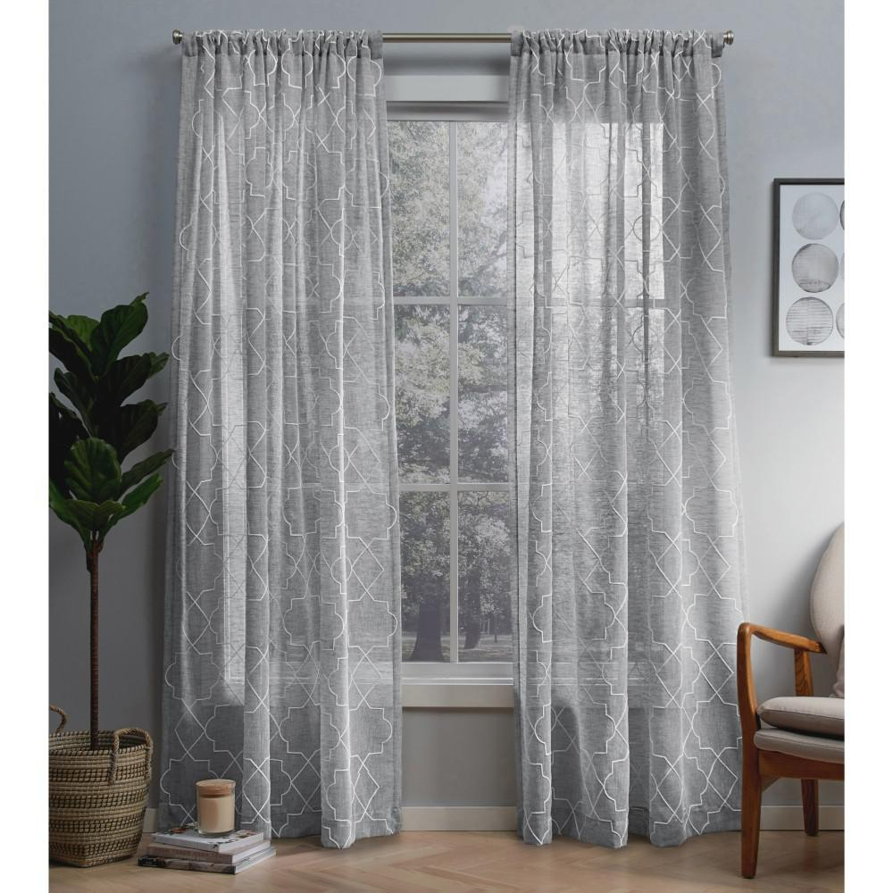 Dove Gray Curtain Tier Pairs With Most Up To Date Amalgamated Textiles Cali 50 In. W X 84 In (View 4 of 20)