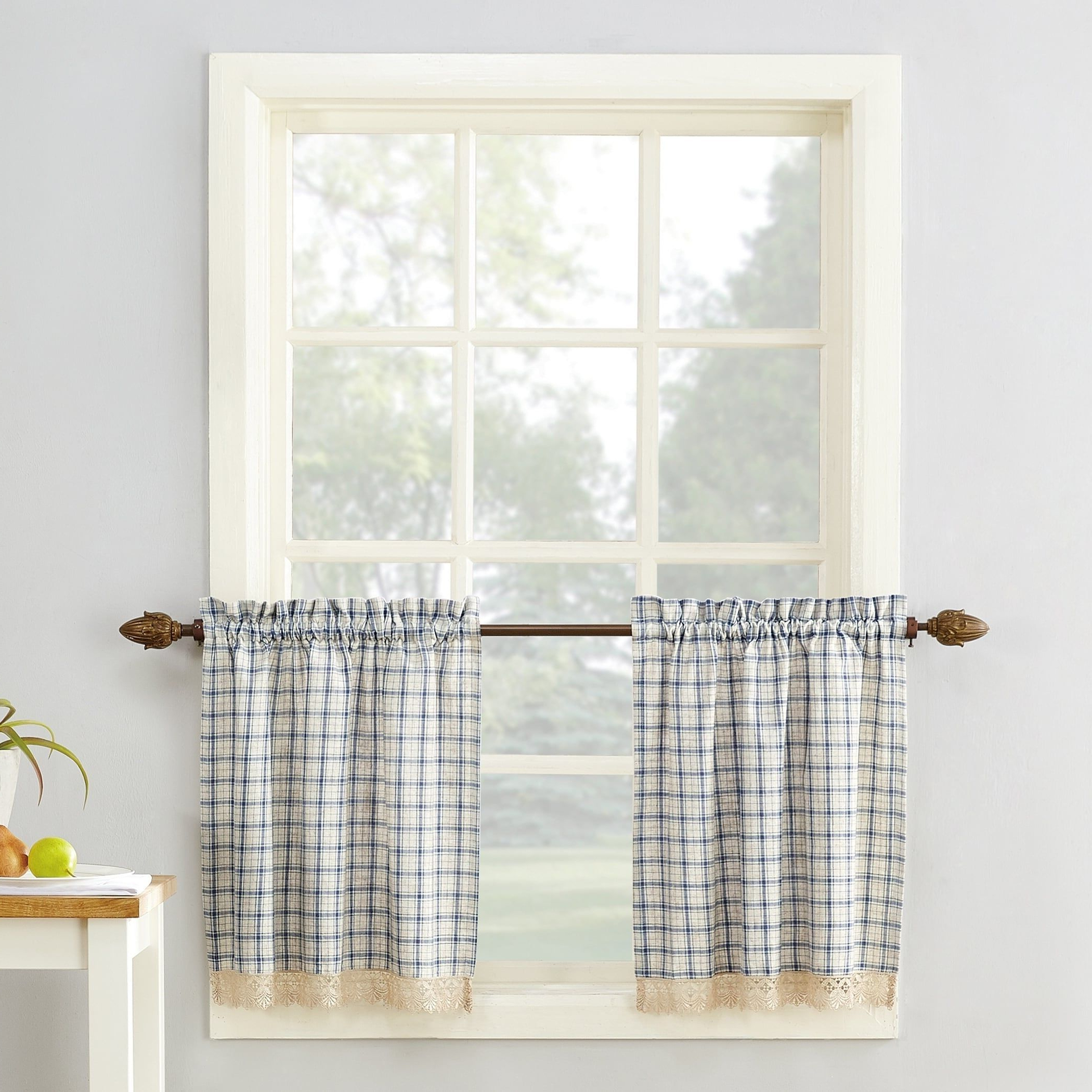 Drop In Popular Twill 3 Piece Kitchen Curtain Tier Sets (View 14 of 20)