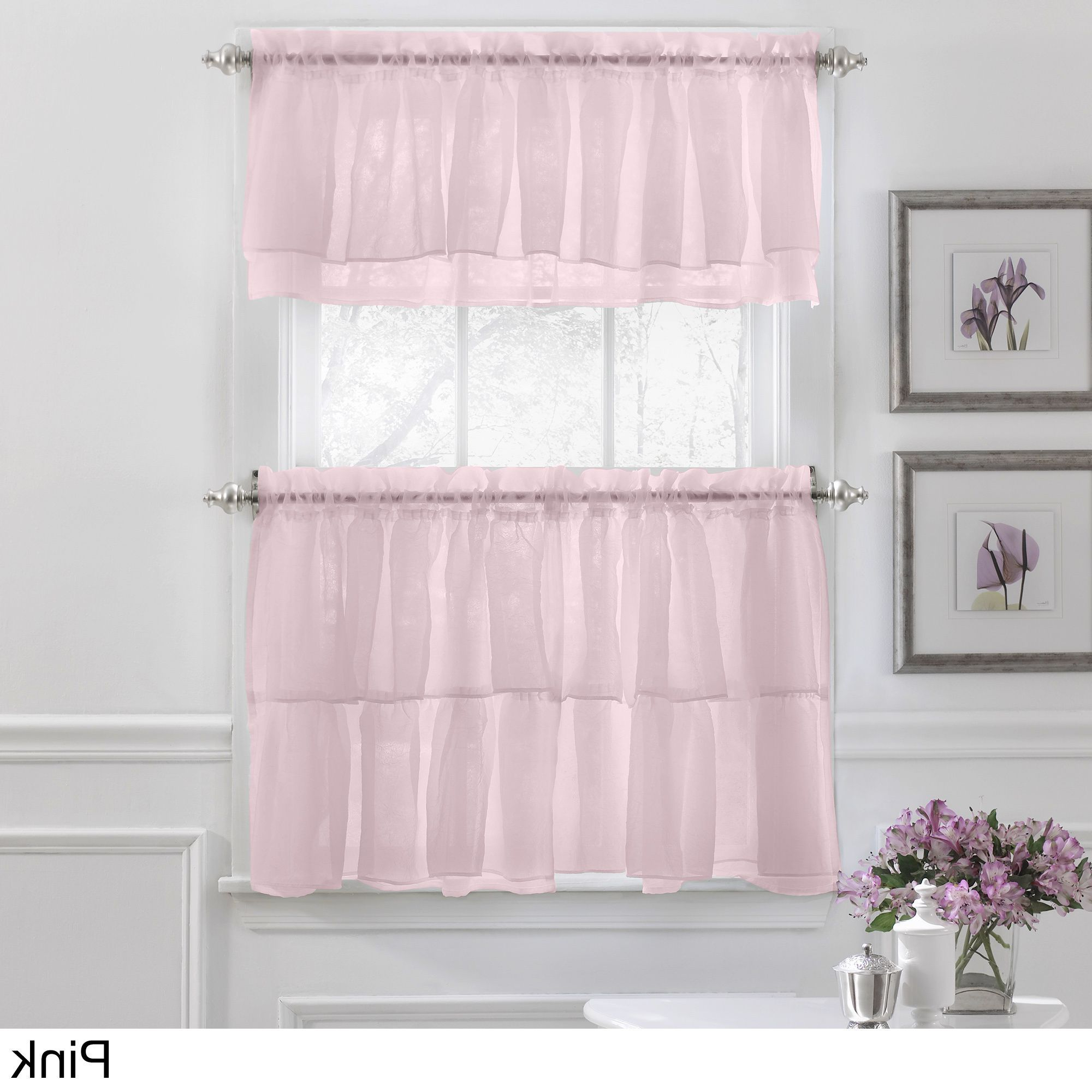 Featured Photo of Elegant Crushed Voile Ruffle Window Curtain Pieces