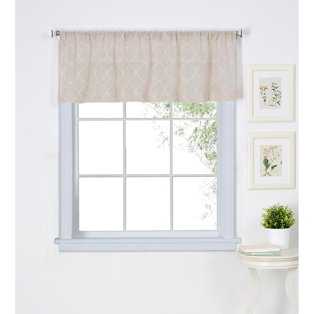 Elrene Taylor Kitchen Tier Valance Throughout Popular Trellis Pattern Window Valances (View 17 of 20)