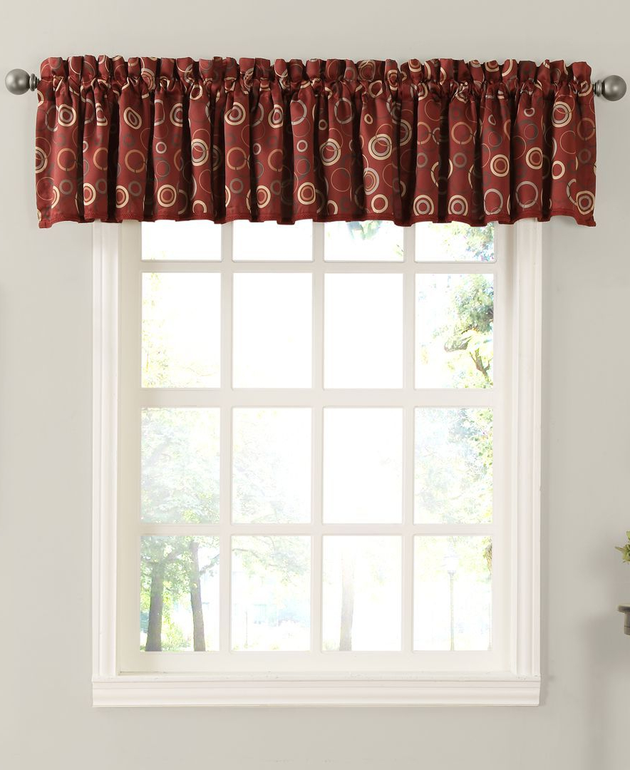 Famous Circle Curtain Valances In Rowan All Over Circle Pattern Room Darkening 54 X 18 Valance (View 11 of 20)