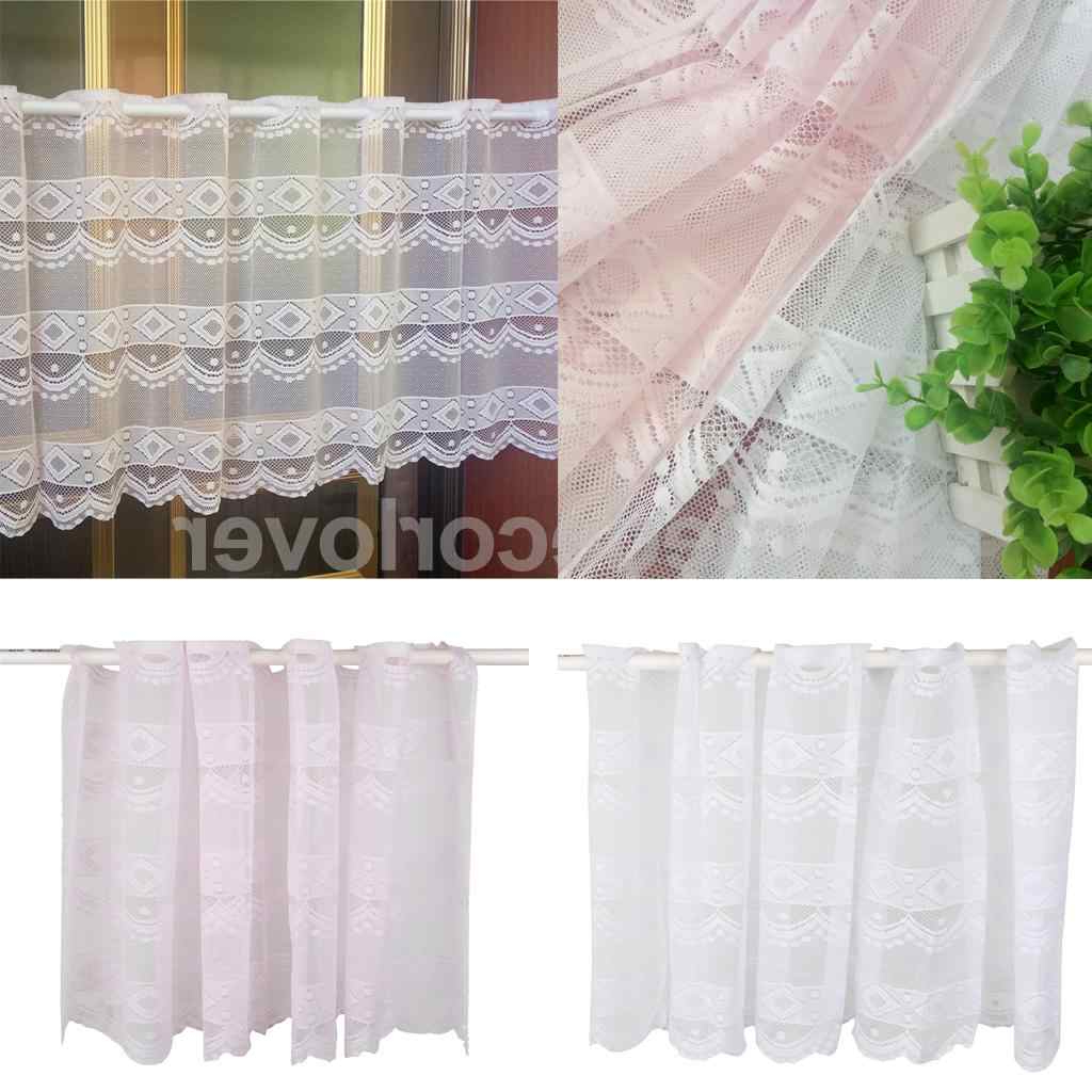 Famous Coffee Drinks Embroidered Window Valances And Tiers In Window Dressing Polyester Net Short Curtain Home Kitchen Cafe Curtain Tier  Half Window Valances, 20X63 Inch (View 14 of 20)