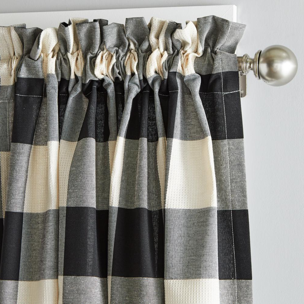 Famous Grandin Curtain Valances In Black Within Skl Home Grandin 40 In. W X 84 In (View 7 of 20)