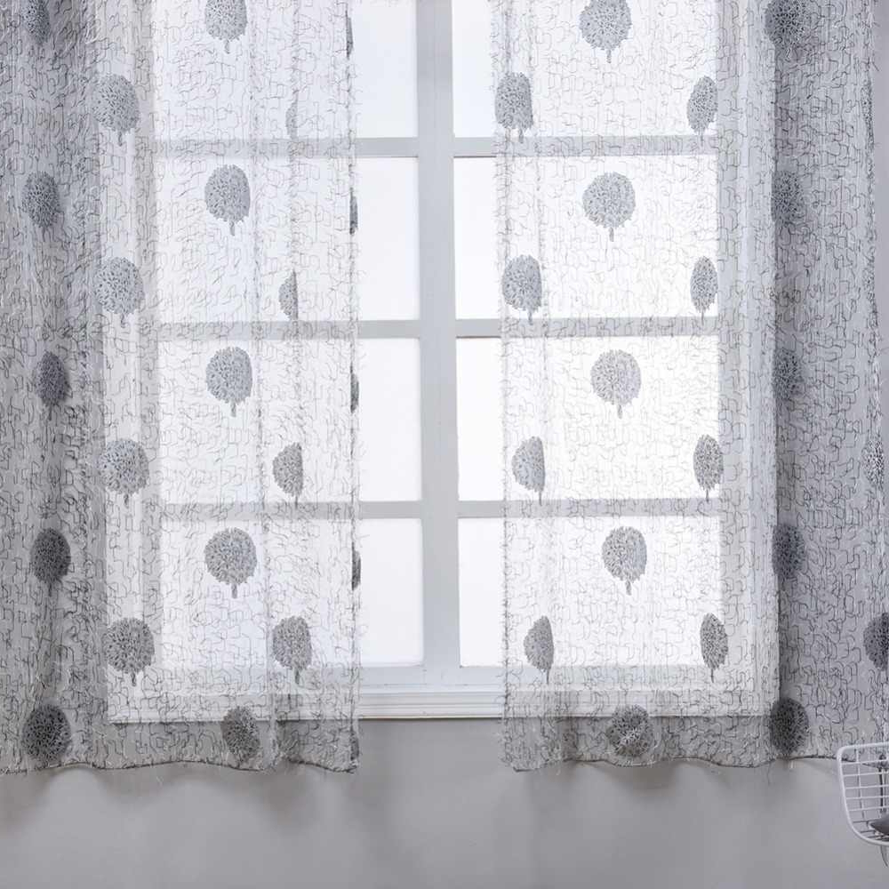 Famous Napearl Transparent Classic Tulle Window Valance And Tiers Kitchen Curtain Quality Short Sheer Drapes Leaf Home Decoration Voile In Classic Black And White Curtain Tiers (View 20 of 20)