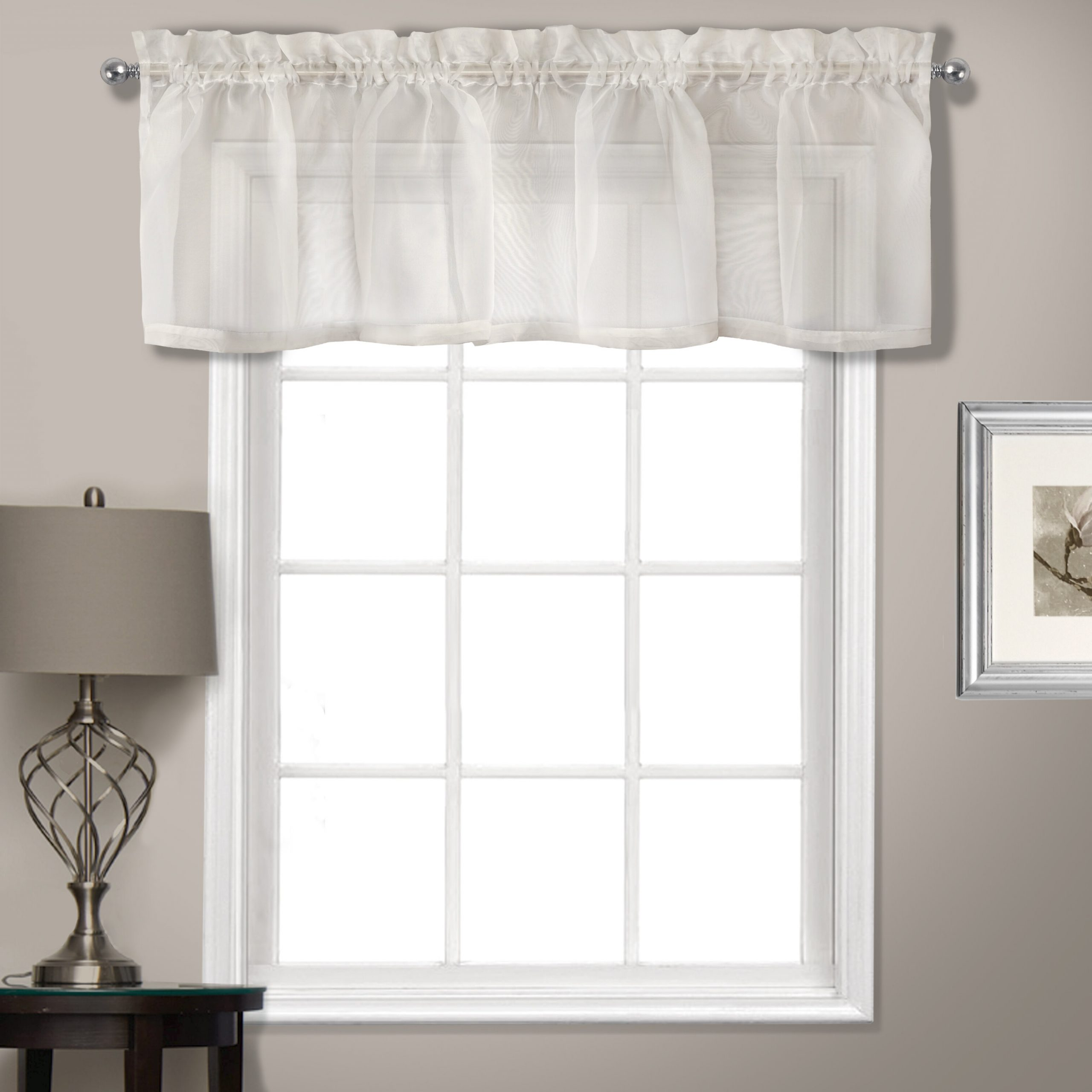"Famous Rutherford Sheer Voile Straight Topper 56"" Window Valance For Luxury Light Filtering Straight Curtain Valances (Gallery 15 of 20)"