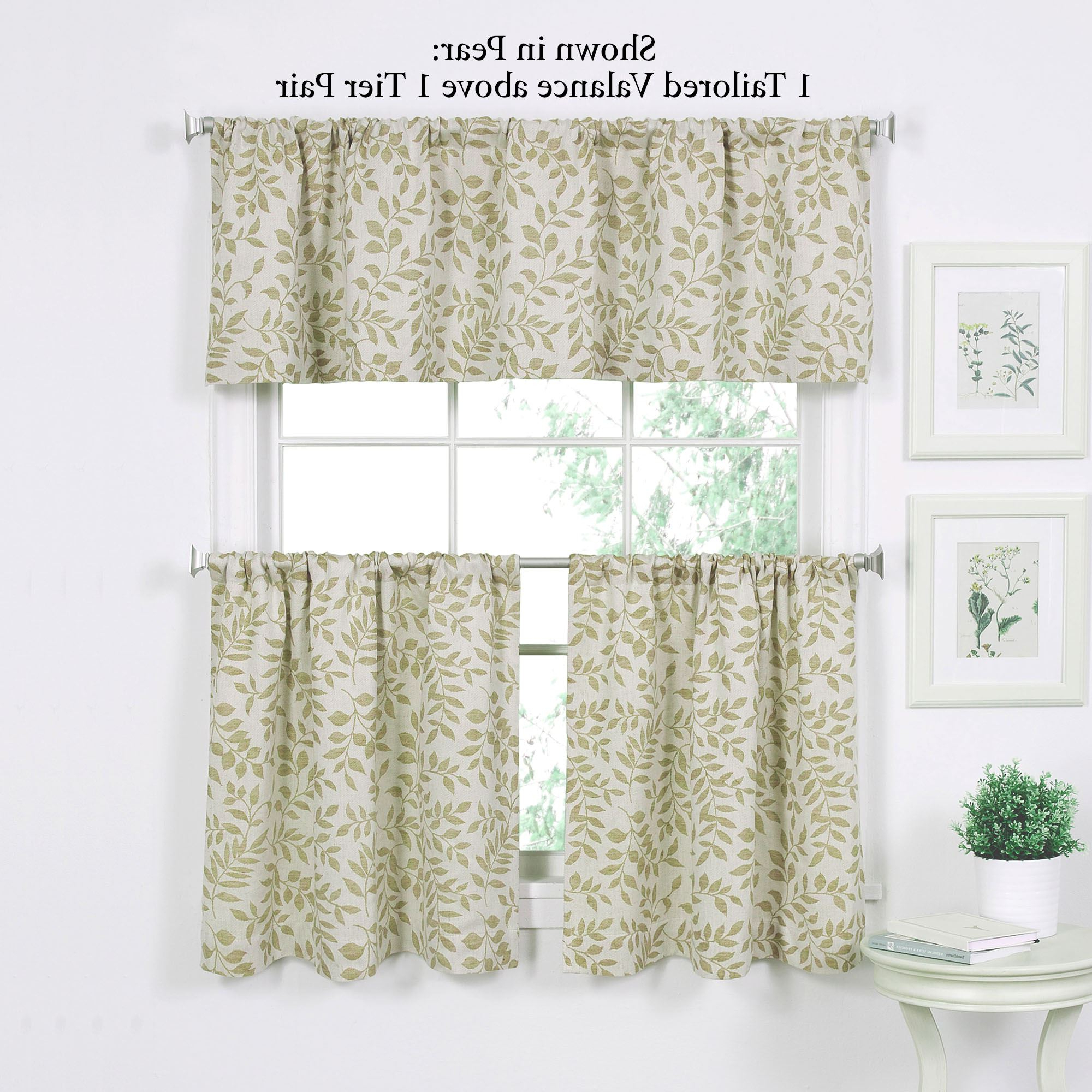 Famous Tranquil Leaf Design Tier Window Treatment Within Tranquility Curtain Tier Pairs (Gallery 8 of 20)