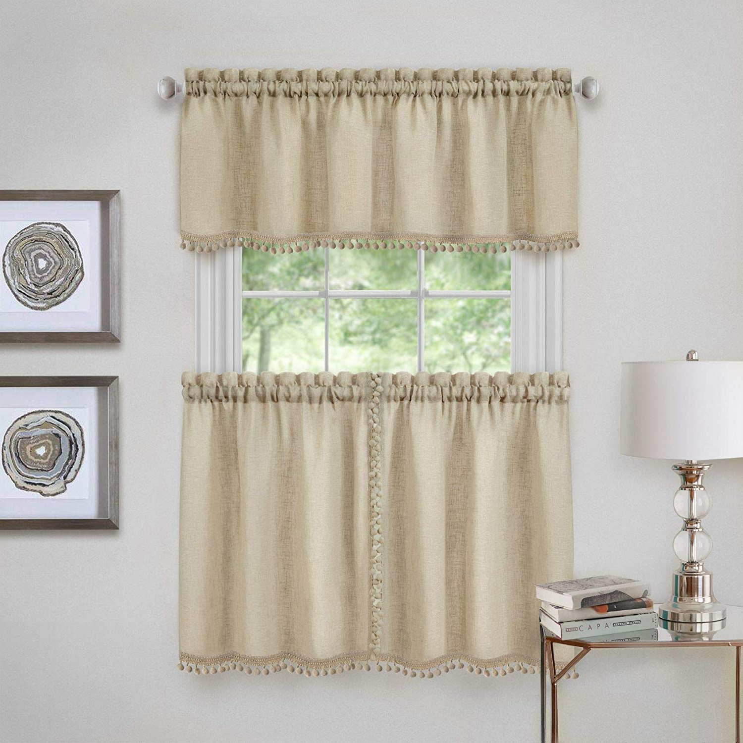 Famous Wallace Window Kitchen Curtain Tiers With Regard To Amazon: Ben & Jonah Primehome Collection Wallace Window (View 3 of 20)