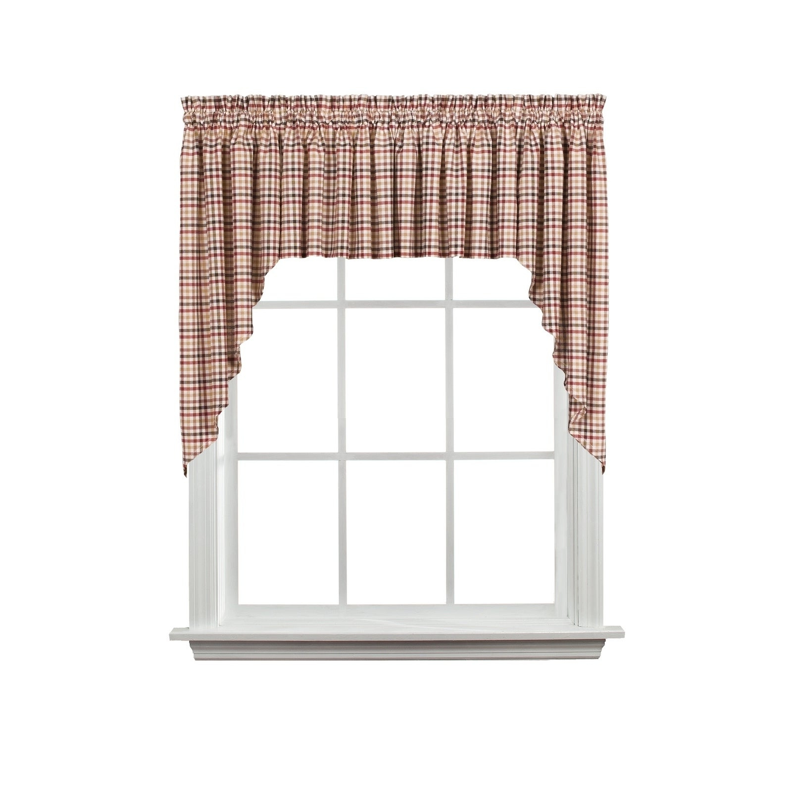 Fashionable Dexter 24 Inch Tier Pairs In Green Pertaining To Skl Home Dexter 13 Inch Valance In Red (View 11 of 20)
