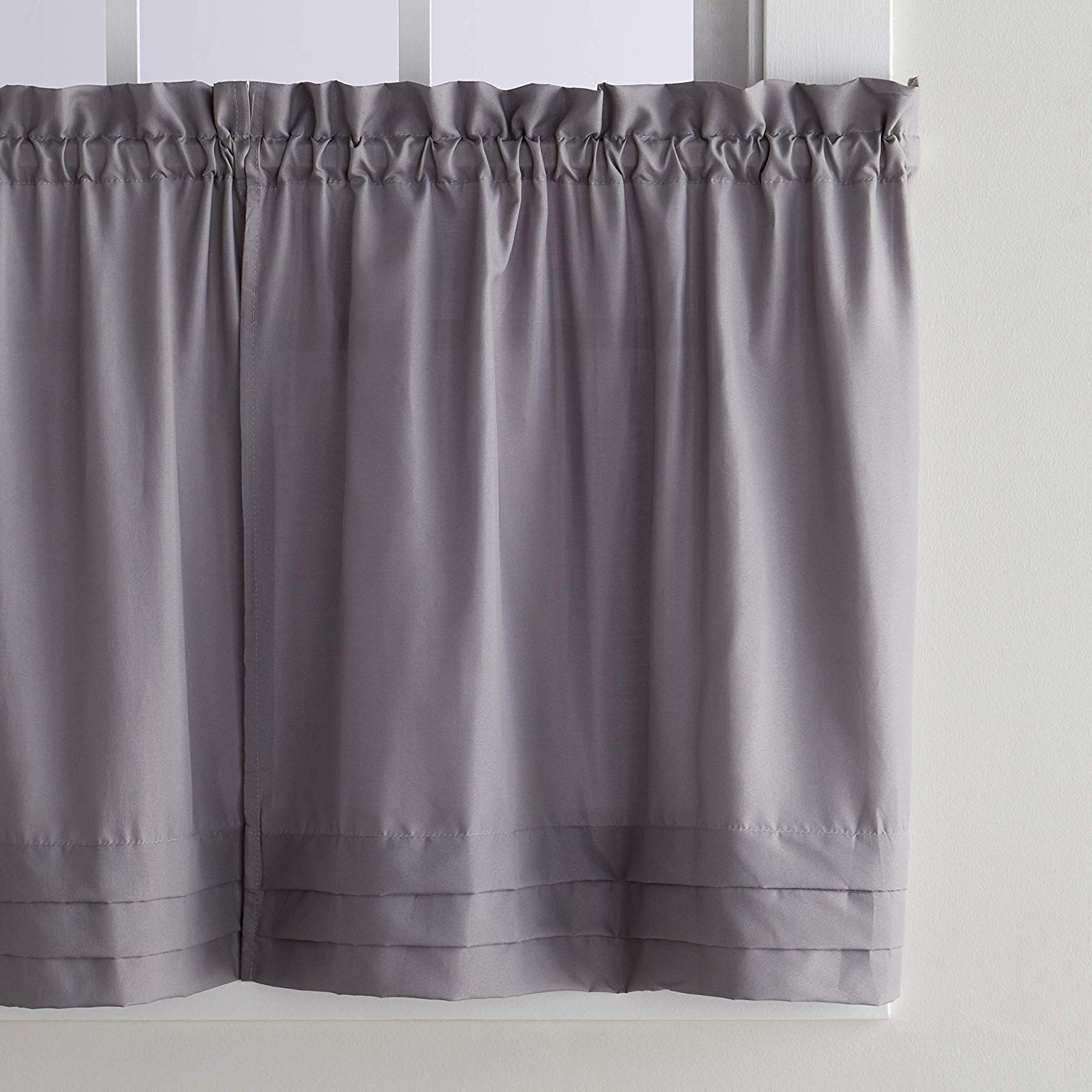 Fashionable Dove Gray Curtain Tier Pairs Inside Skl Homesaturday Knight Ltd. Holden Tier Curtain Pair, Dove Gray, 57  Inches X 36 Inches (Gallery 13 of 20)