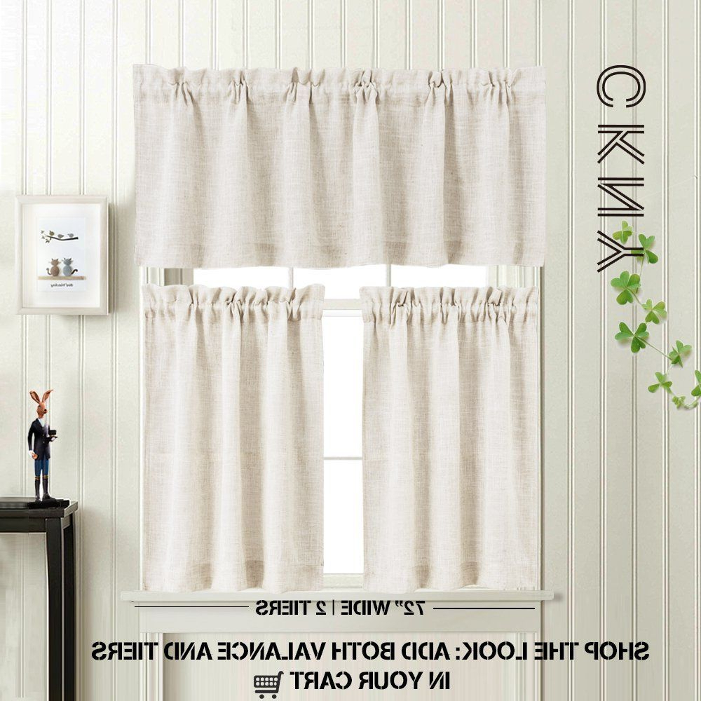 Favorite 3 Pieces Kitchen Curtains And Valances Set Crude Tier Intended For Luxurious Kitchen Curtains Tiers, Shade Or Valances (View 19 of 20)