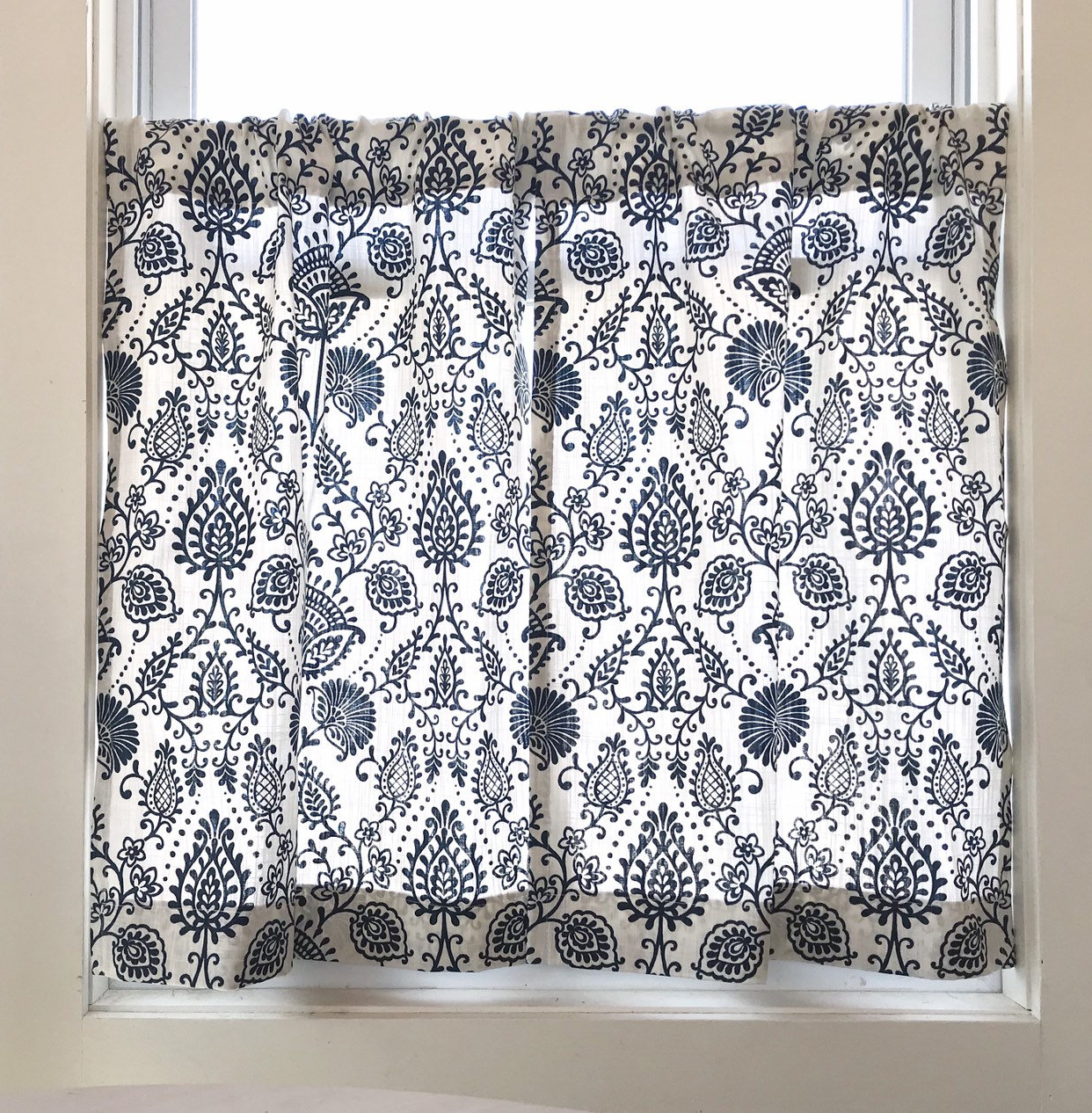 Favorite Cafe Curtains, Farmhouse Floral , Floral Curtains, Tiers , Kitchen  Curtains, Floral Cafe Curtains Pertaining To Farmhouse Stripe Kitchen Tier Pairs (View 12 of 20)