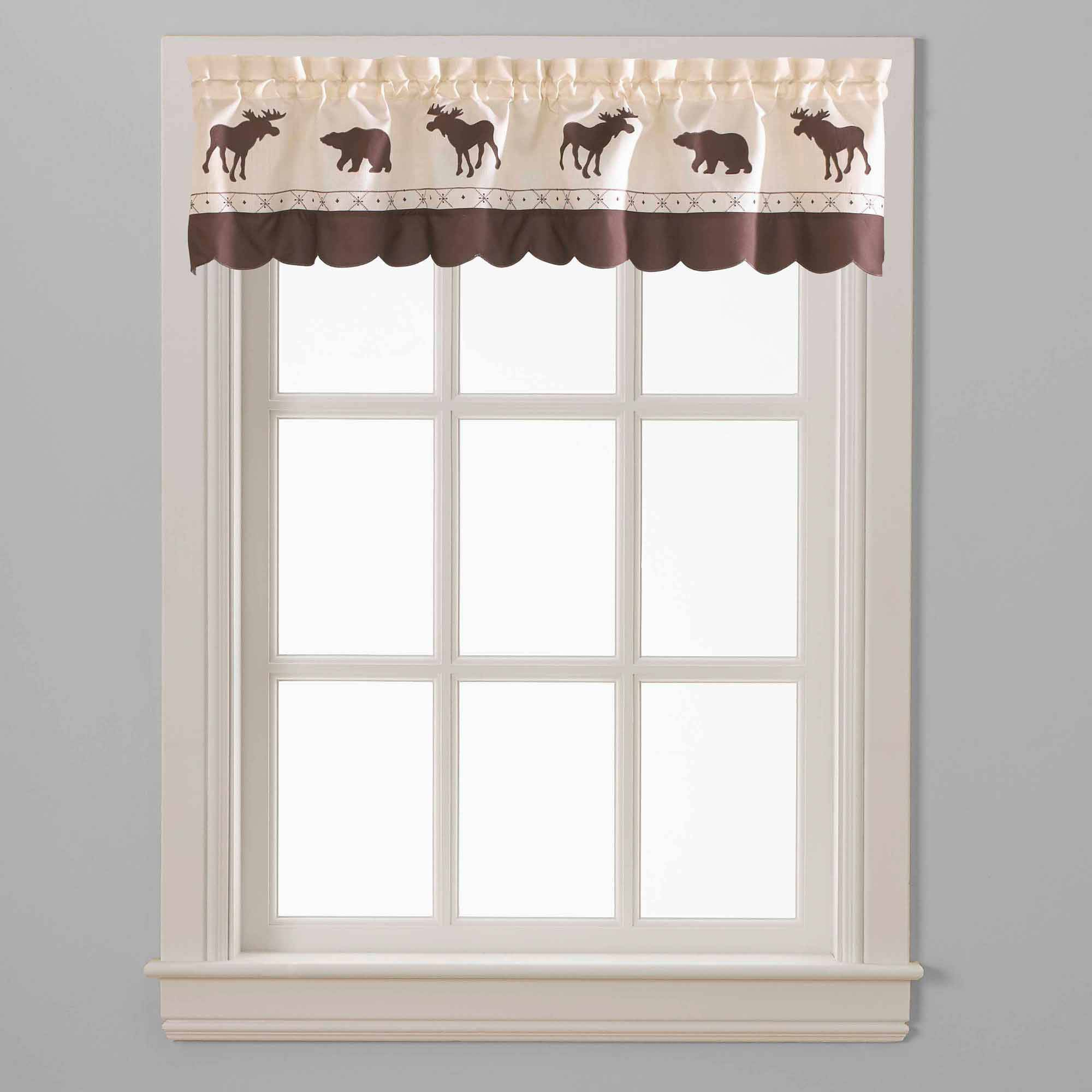 Favorite Forest Valance And Tier Pair Curtains Within Chf & You Forest Curtain Panel, Set Of 2 – Walmart (Gallery 7 of 20)