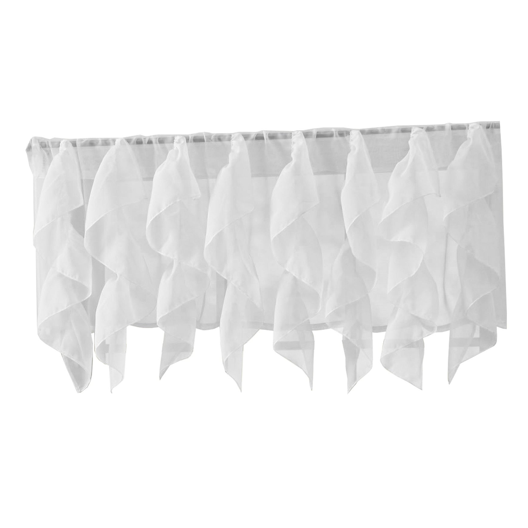 Favorite Maize Vertical Ruffled Waterfall Valance And Curtain Tiers With Regard To Sweet Home Collection Mint Vertical Ruffled Waterfall Valance And Curtain Tiers (View 4 of 20)