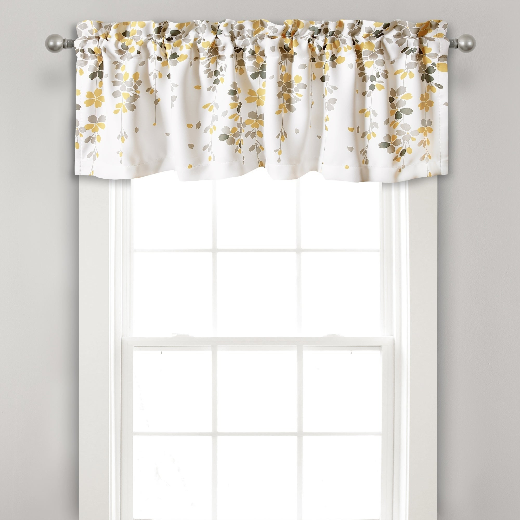 Favorite Traditional Tailored Tier And Swag Window Curtains Sets With Ornate Flower Garden Print With Lush Decor Weeping Flower Room Darkening Window Curtain Valance – 52x (View 17 of 20)