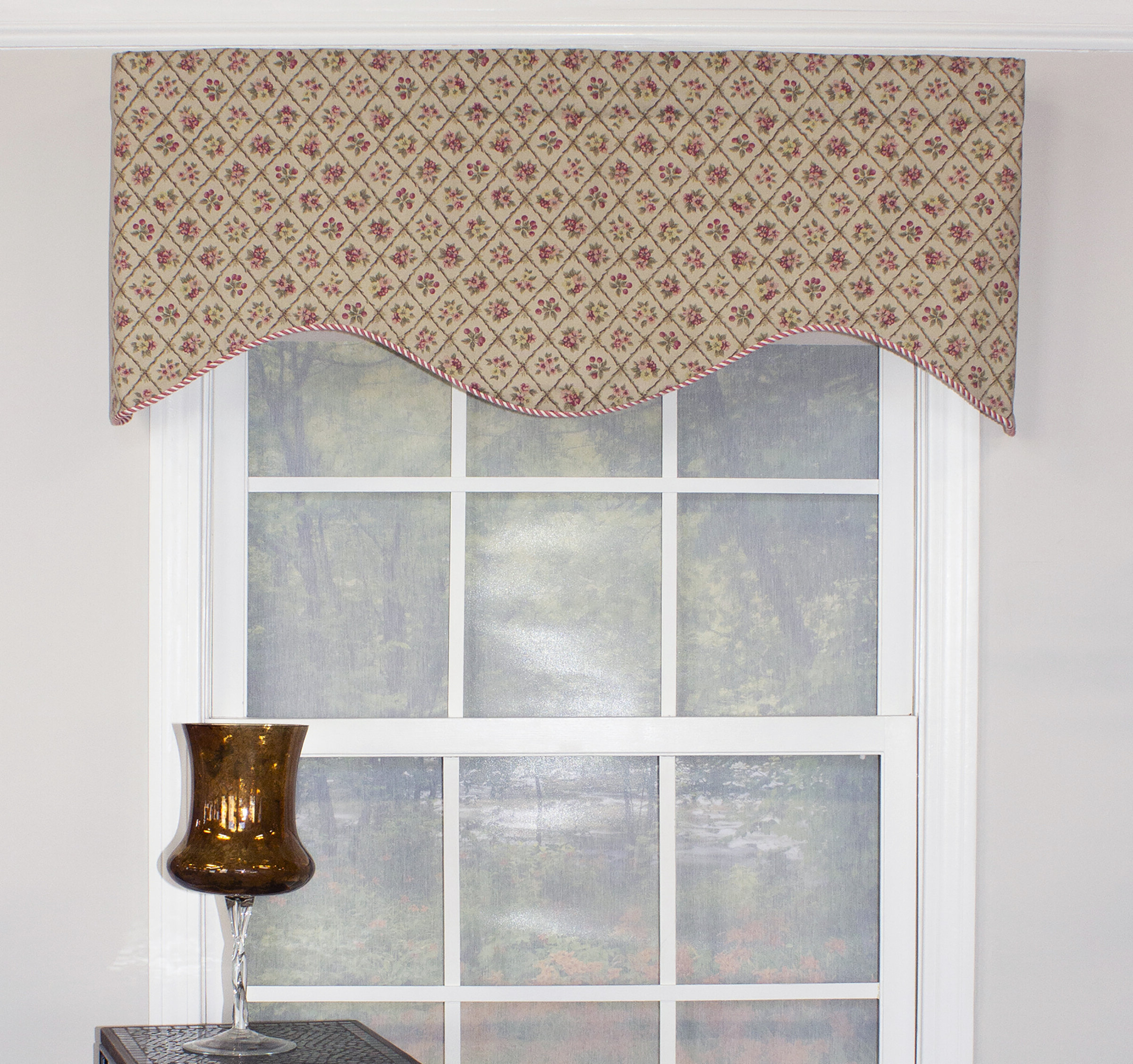 "Favorite Trellis Pattern Window Valances Within Sydnie Petite Trellis 51"" Window Valance (View 14 of 20)"