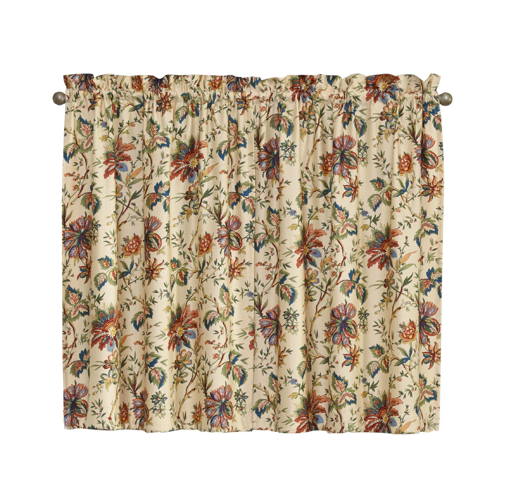 Felecite Tier Curtain Regarding Popular Imperial Flower Jacquard Tier And Valance Kitchen Curtain Sets (Gallery 16 of 20)