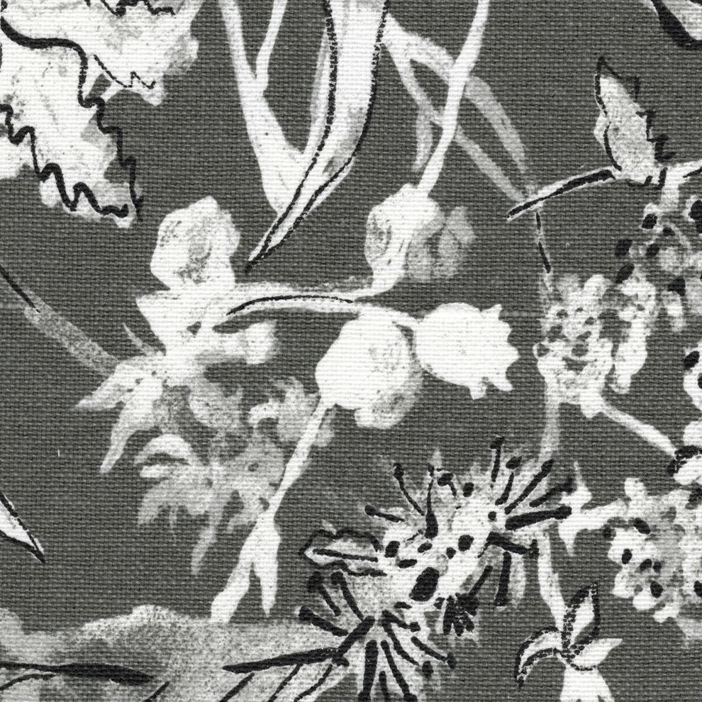 Floral Blossom Ink Painting Thermal Room Darkening Kitchen Tier Pairs Throughout Current Rod Pocket Curtain Panels Pair Garden Party Ink Floral Gray Cotton Linen (View 20 of 20)
