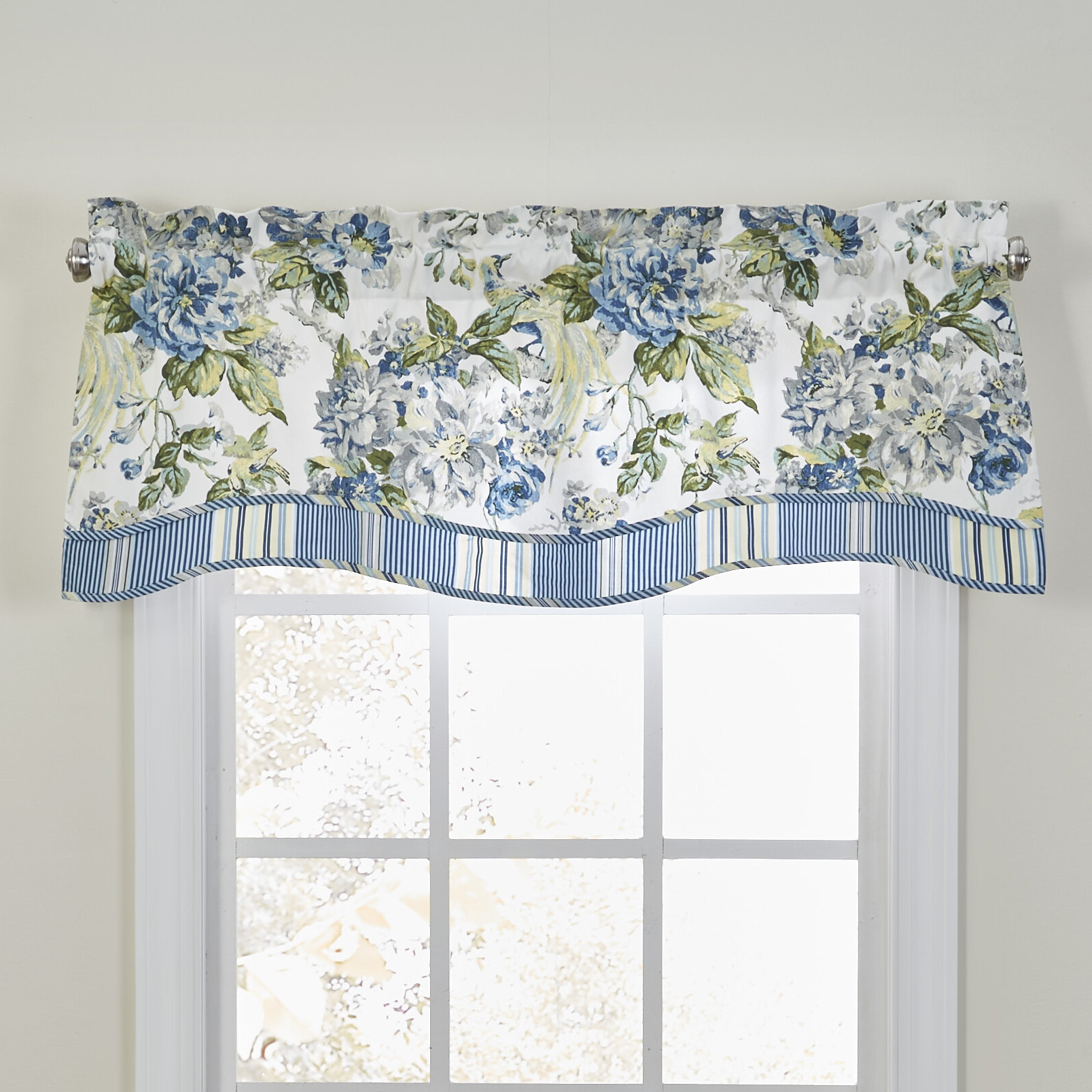 Floral Engagement Curtain Valance For Newest Floral Pattern Window Valances (View 17 of 20)