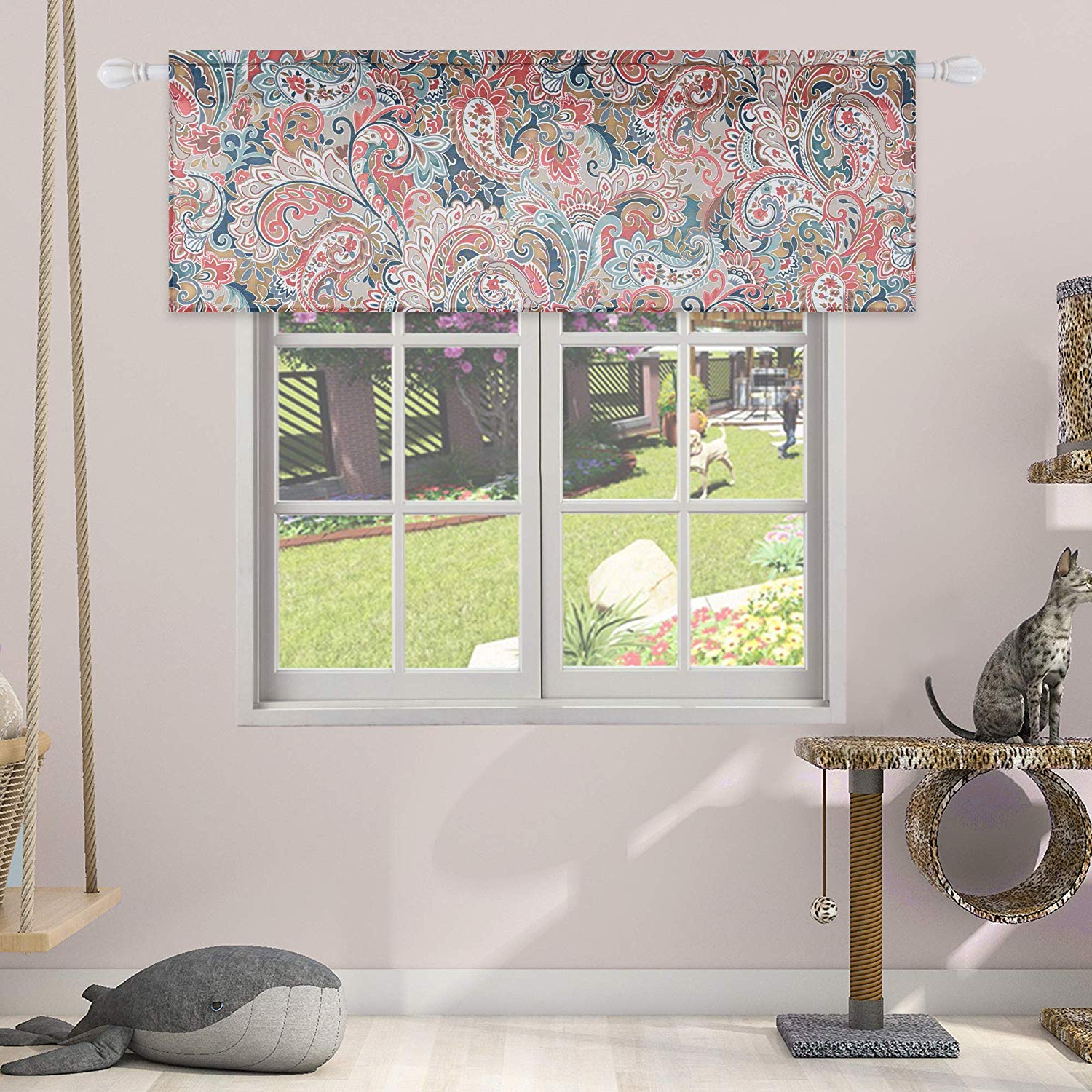 Floral Pattern Window Valances For 2020 Amazon: Huto Floral Pattern Window Curtain Valances For (Gallery 5 of 20)