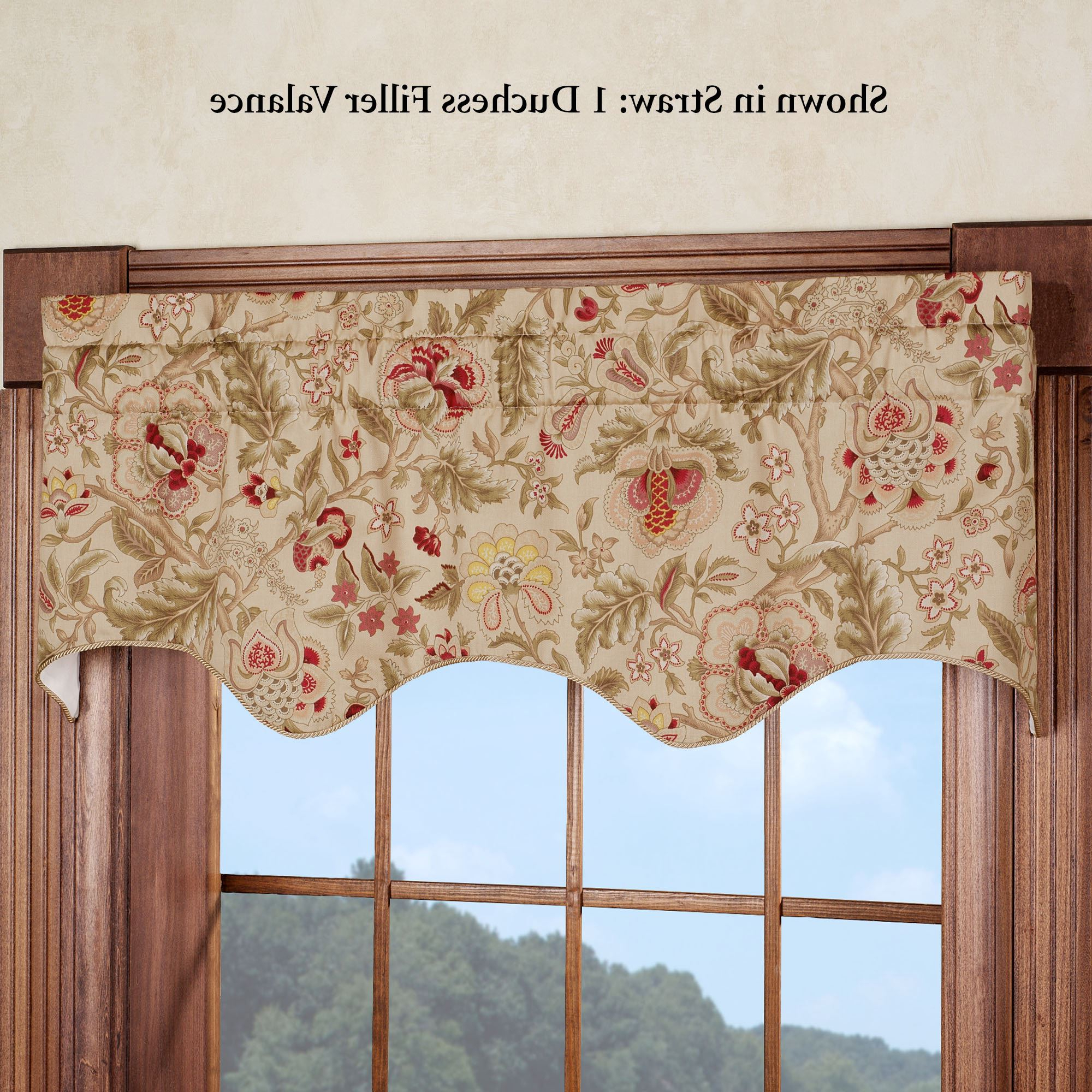 Floral Pattern Window Valances Inside Fashionable Regency Floral Duchess Filler Valancewaverly (View 11 of 20)