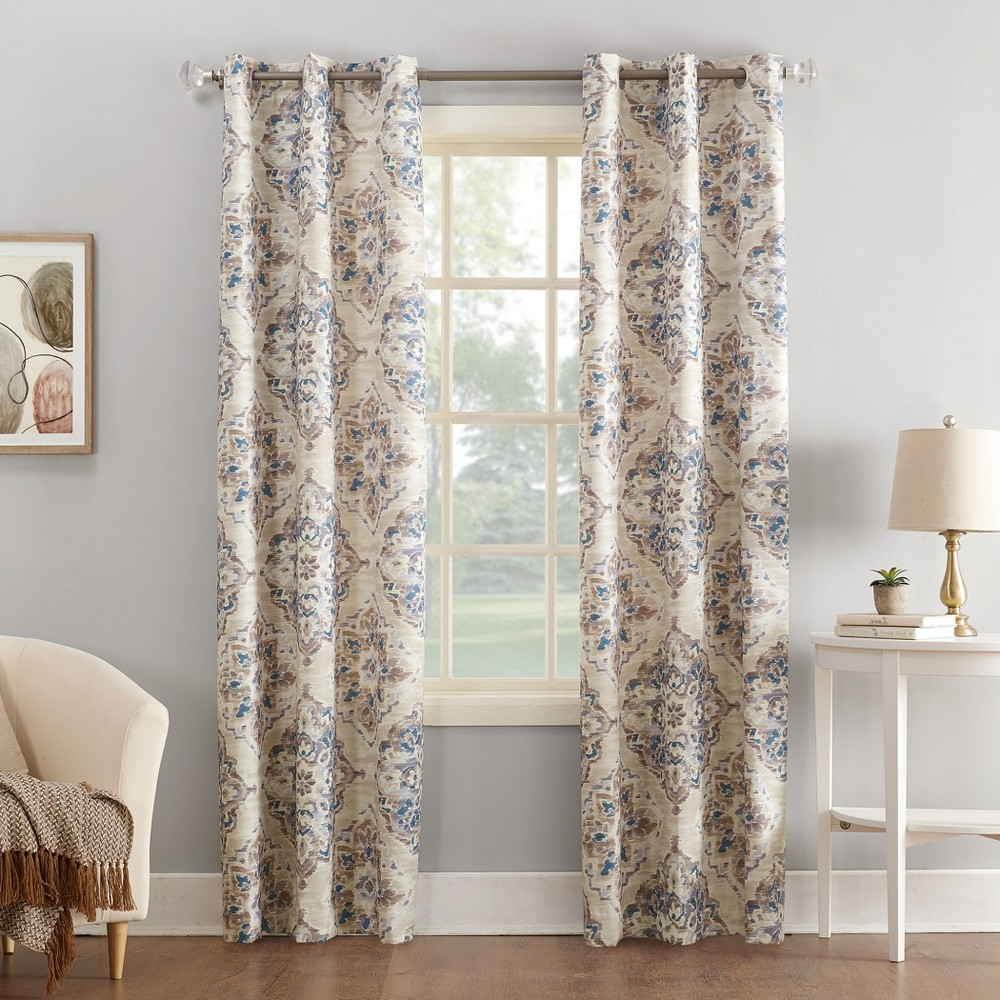 Floral Watercolor Semi Sheer Rod Pocket Kitchen Curtain Valance And Tiers Sets For 2021 Regina Watercolor Floral Thermal Insulated Grommet Curtain (Gallery 19 of 20)