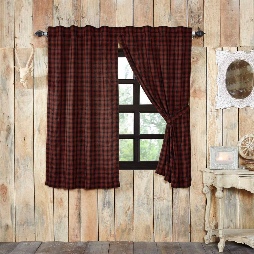 For The Home With Regard To Cumberland Tier Pair Rod Pocket Cotton Buffalo Check Kitchen Curtains (View 12 of 20)