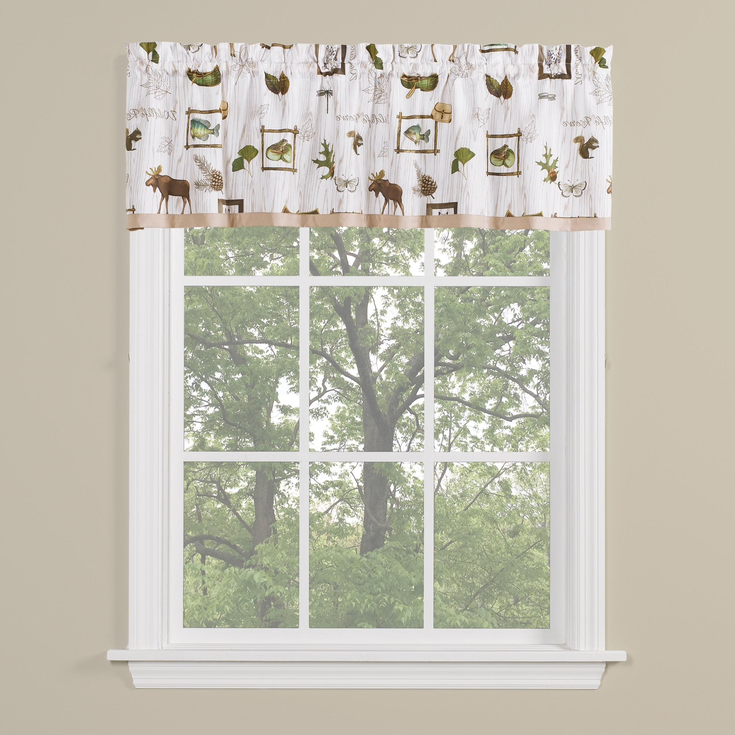 Forest Valance And Tier Pair Curtains Intended For Most Popular Saturday Knight Ltd Forest Glen Window Tier Pair & Valance, Neutral (View 4 of 20)