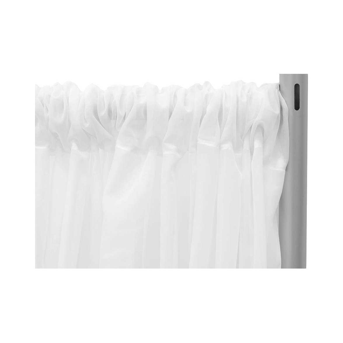 "*fr* 10ft Wide X 12ft Long Sheer Voile Curtain Panel W/ 4"" Pockets For Most Recent Elegant Crushed Voile Ruffle Window Curtain Pieces (View 18 of 20)"