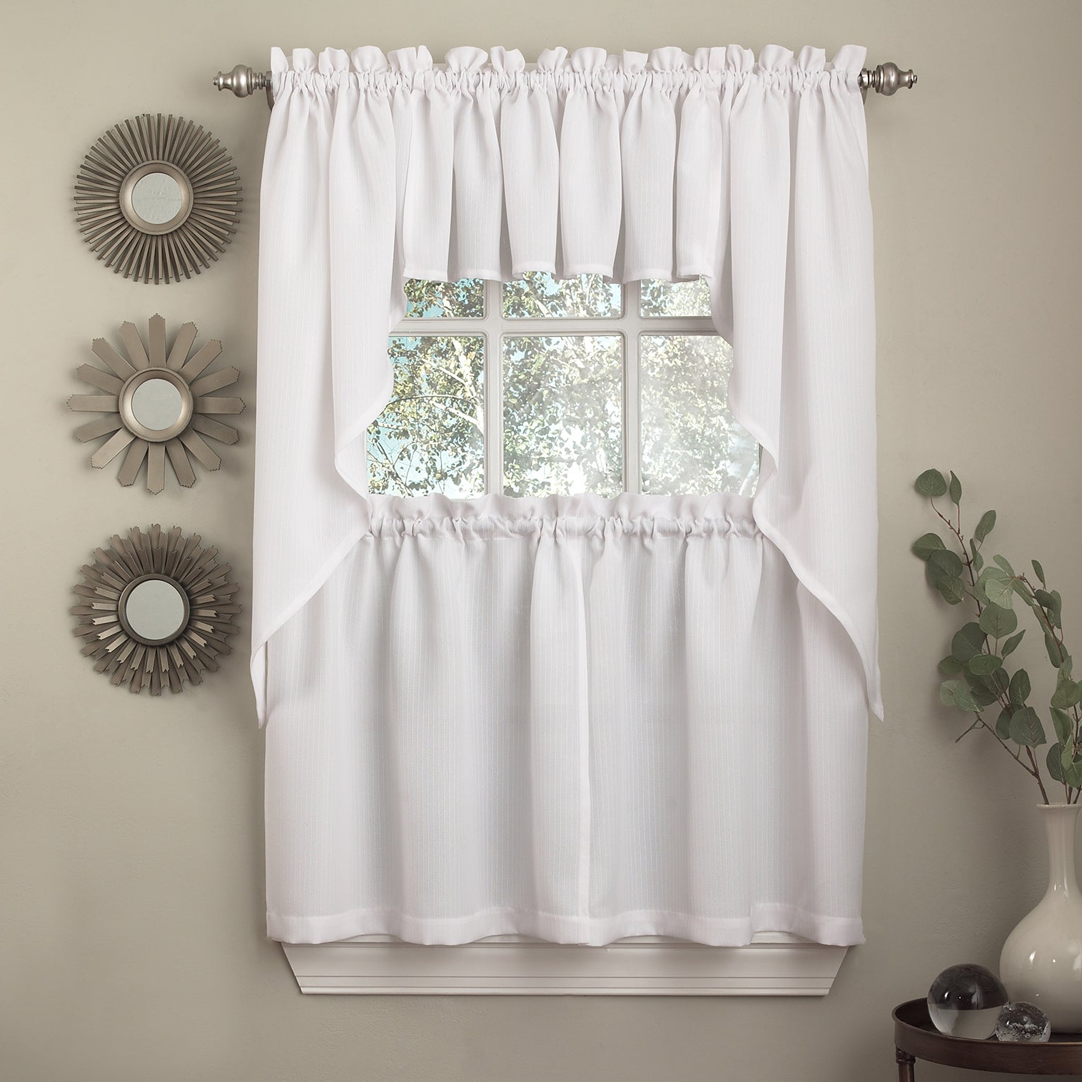 Glasgow Curtain Tier Sets Within Well Known Opaque Ribcord Kitchen Curtain Pieces – Tiers/ Valances/ Swags (View 7 of 20)