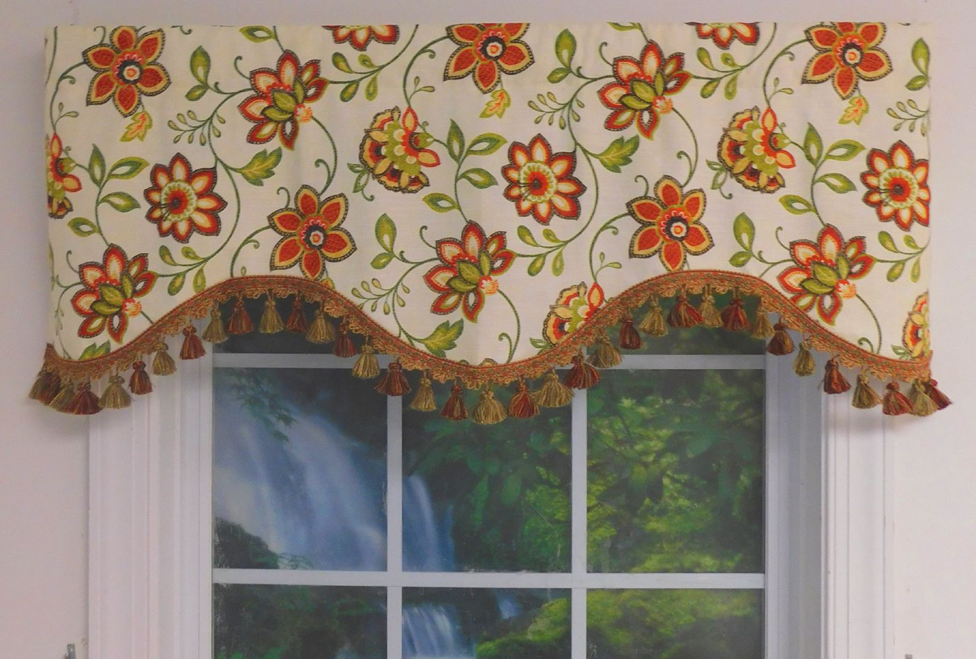 Grace Cinnabar 5 Piece Curtain Tier And Swag Sets For Current Shaped Valances: Solid, Patterned, Cornice, Box Pleat (View 20 of 20)